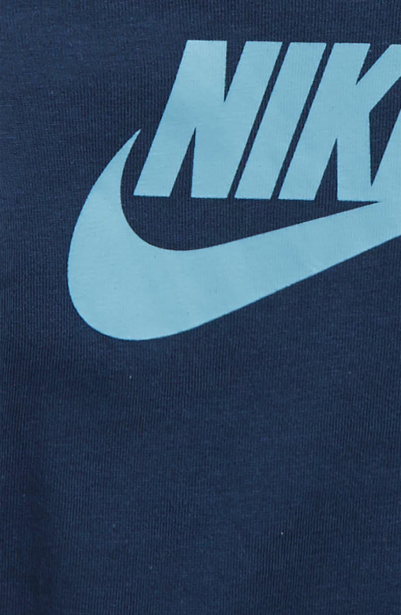 Alternate Image 2  - Nike Bodysuit, Jogger Pants & Beanie Set (Baby Boys)