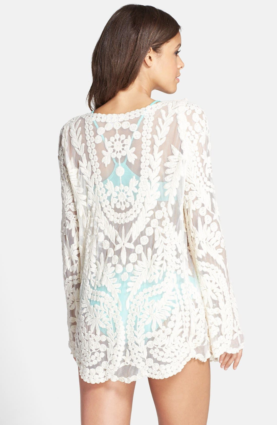 Alternate Image 2  - Ella Moss 'Cabana' Crochet Cover-Up Tunic