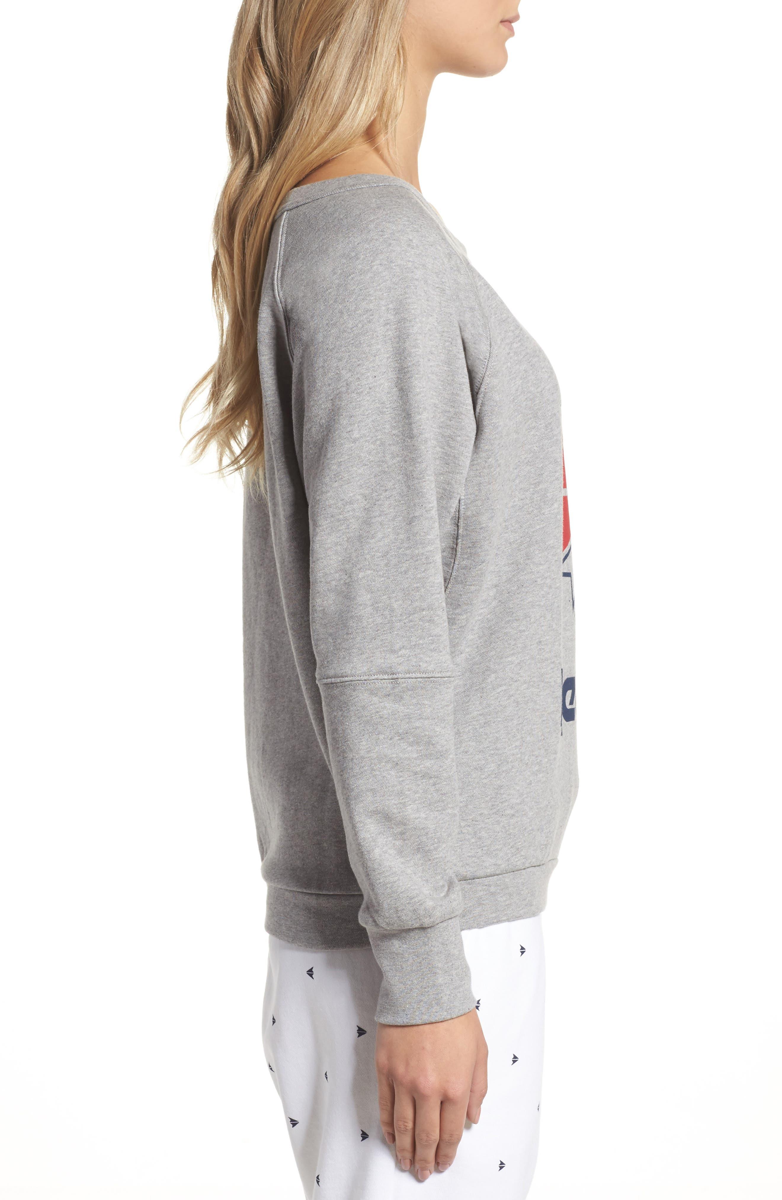 Heritage Starcrest Sweatshirt,                             Alternate thumbnail 3, color,                             Medium Heather Grey