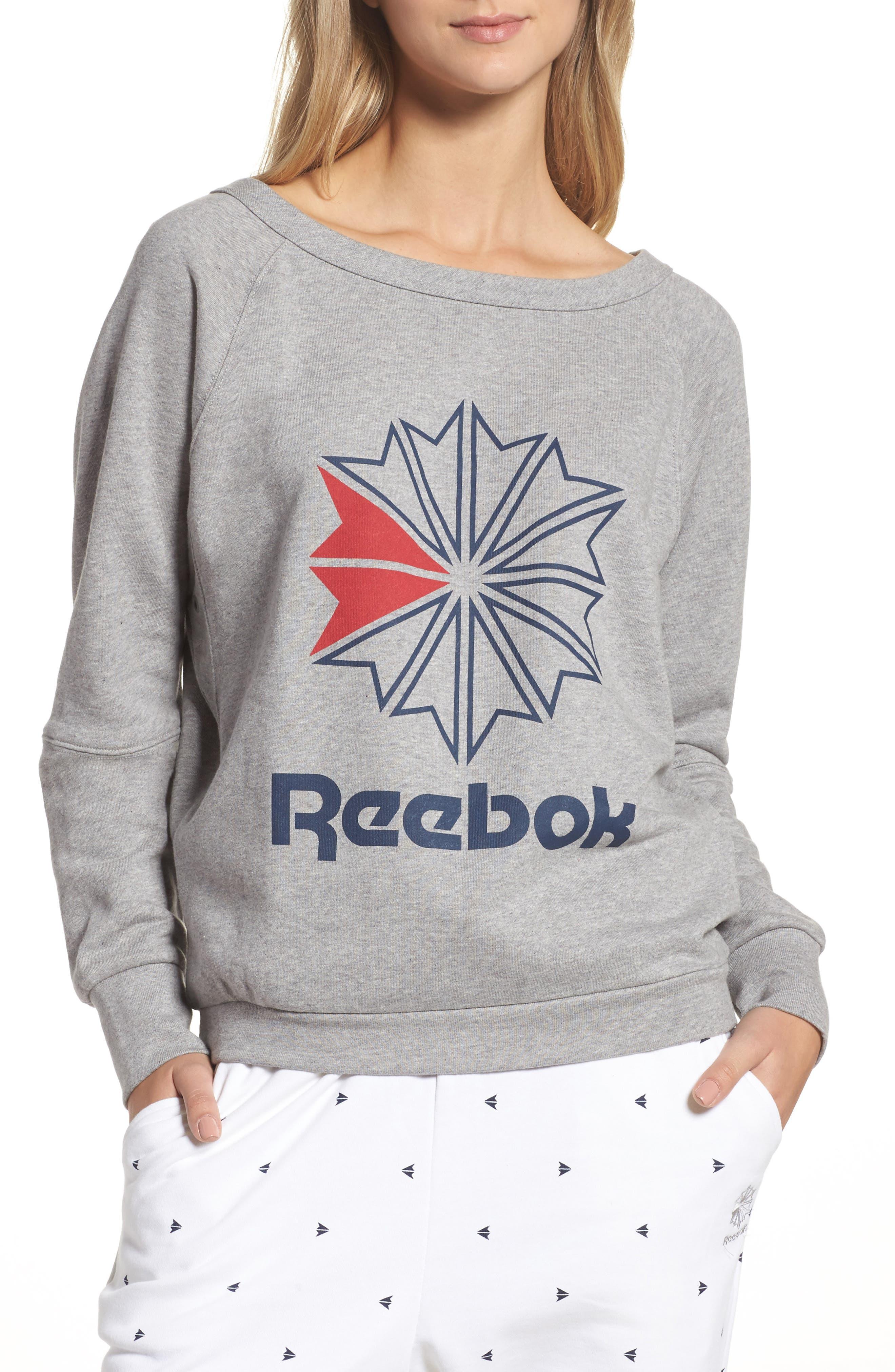 Heritage Starcrest Sweatshirt,                             Main thumbnail 1, color,                             Medium Heather Grey