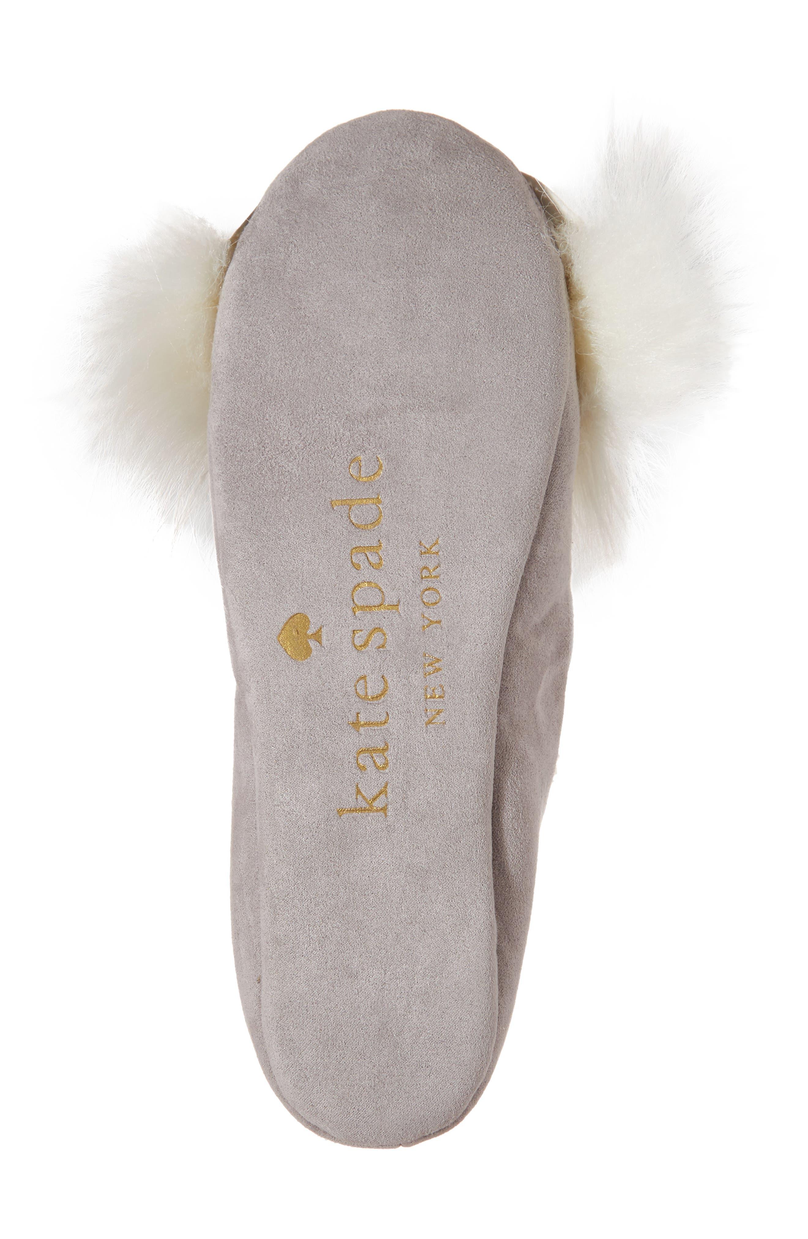 samantha owl slipper,                             Alternate thumbnail 6, color,                             Grey