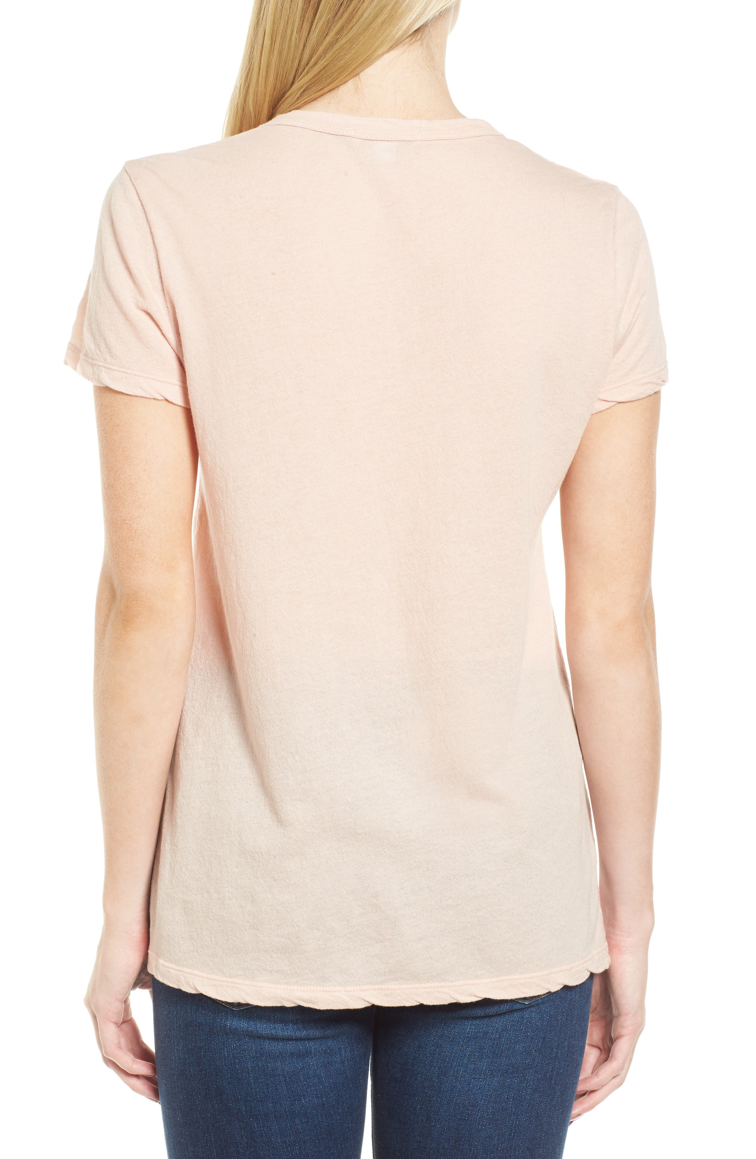 Crepe Jersey Tee,                             Alternate thumbnail 2, color,                             Luster