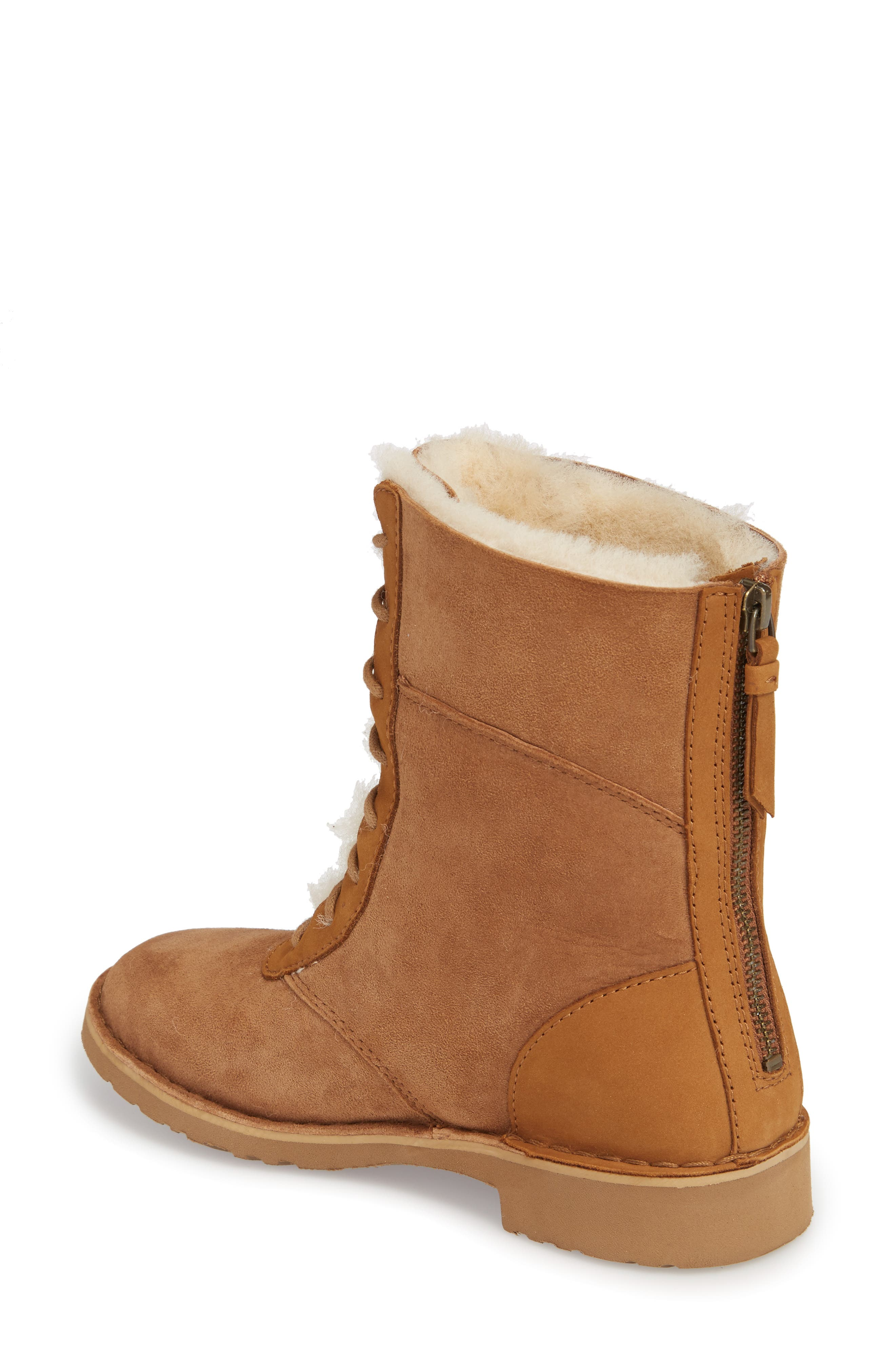 Daney Lace-Up Boot,                             Alternate thumbnail 2, color,                             Chestnut Suede