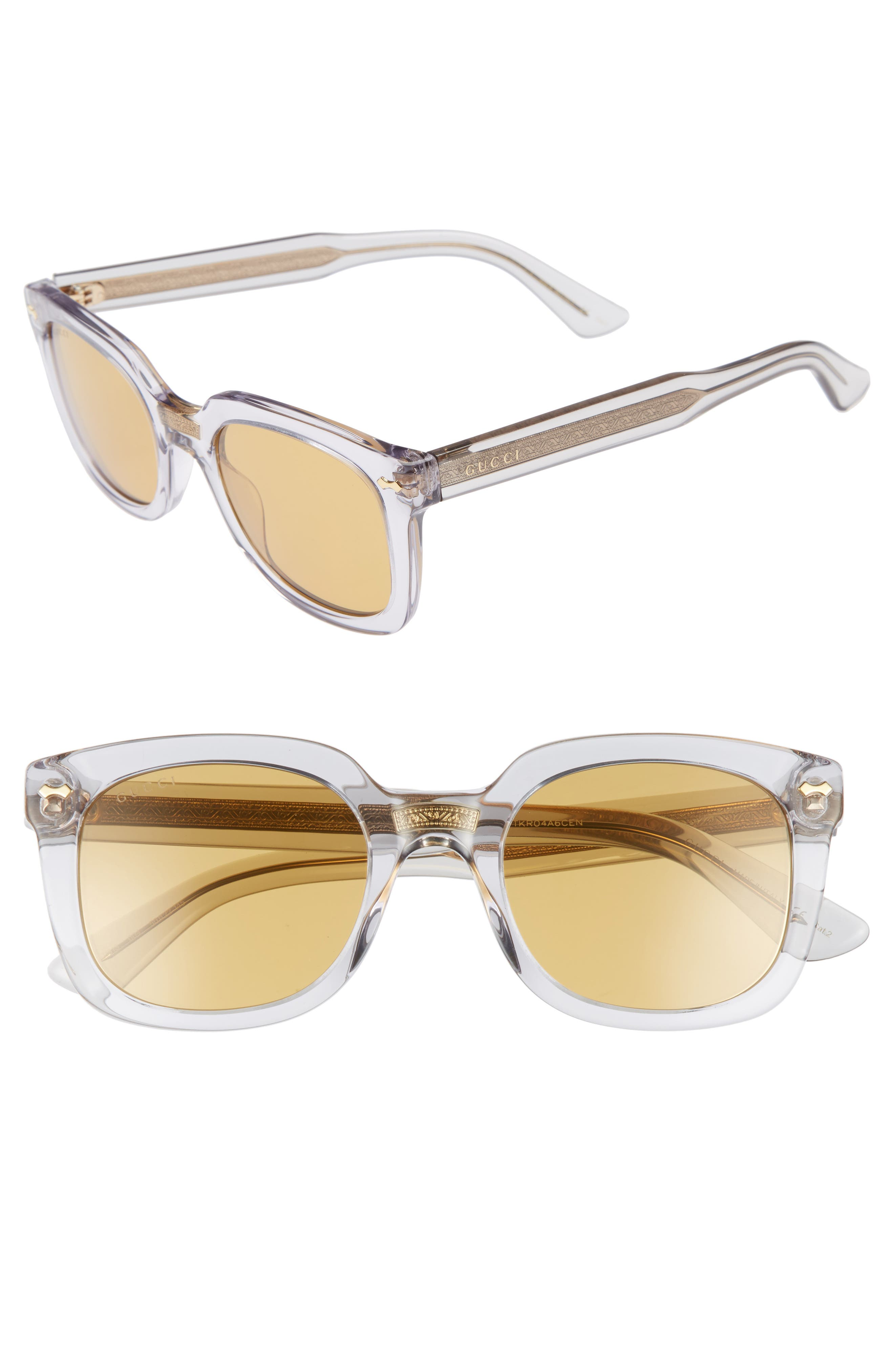 Alternate Image 1 Selected - Gucci 50mm Square Sunglasses