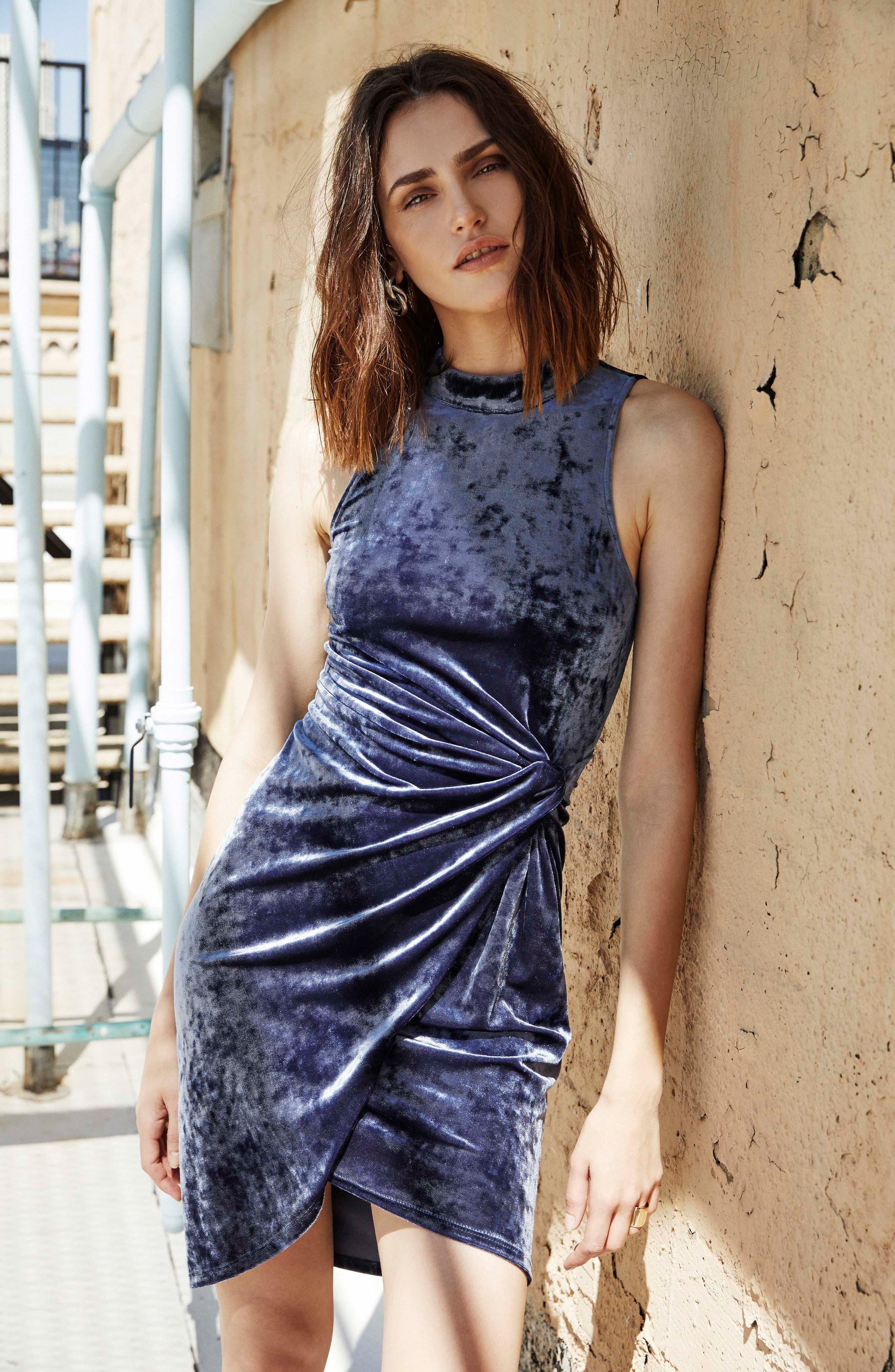Avalon Body-Con Dress,                             Alternate thumbnail 2, color,                             Sapphire