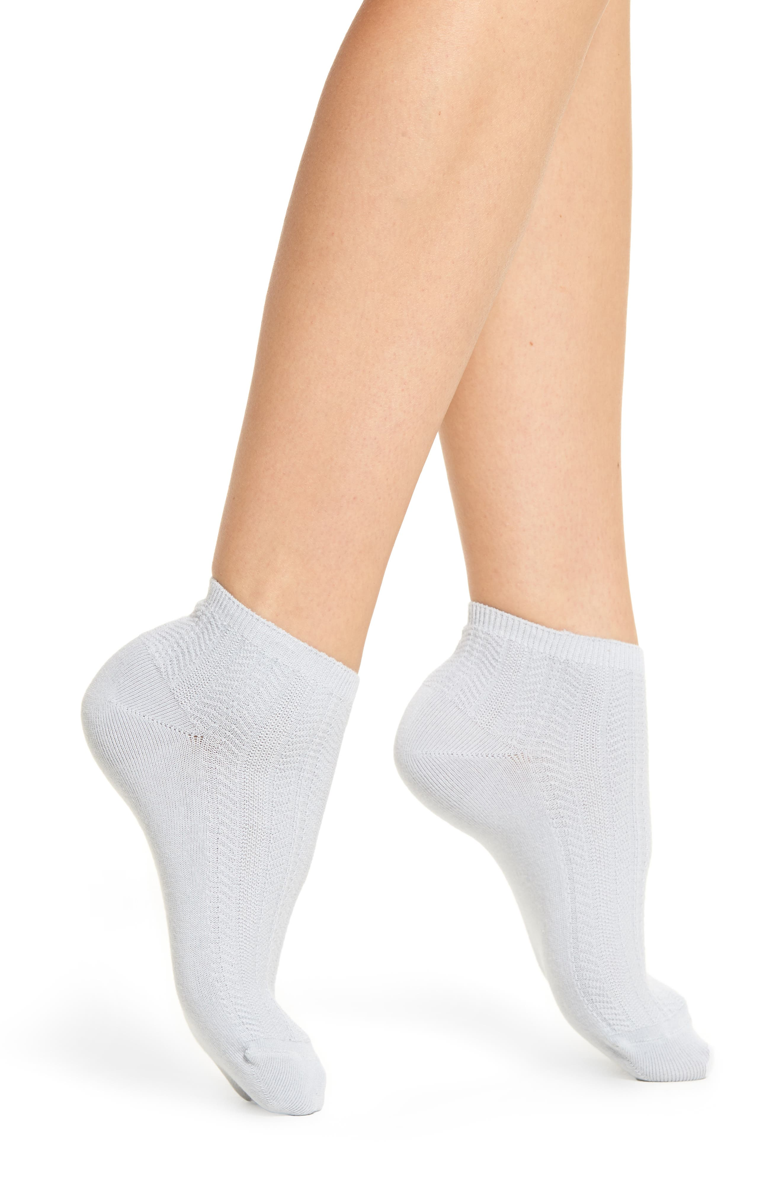 Knit Ankle Socks,                         Main,                         color, Blue Ice