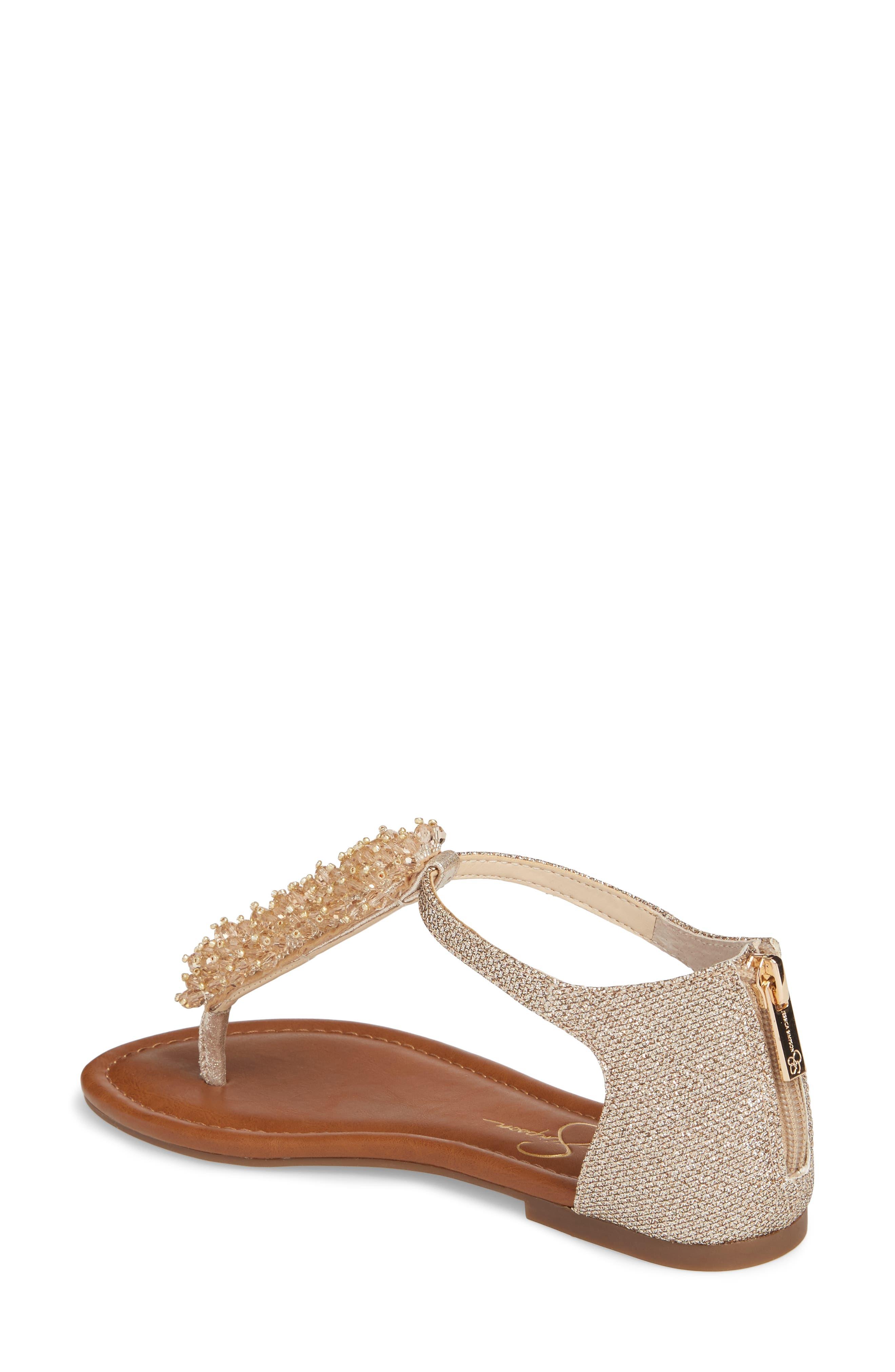 Kenton Crystal Embellished Sandal,                             Alternate thumbnail 2, color,                             Gold