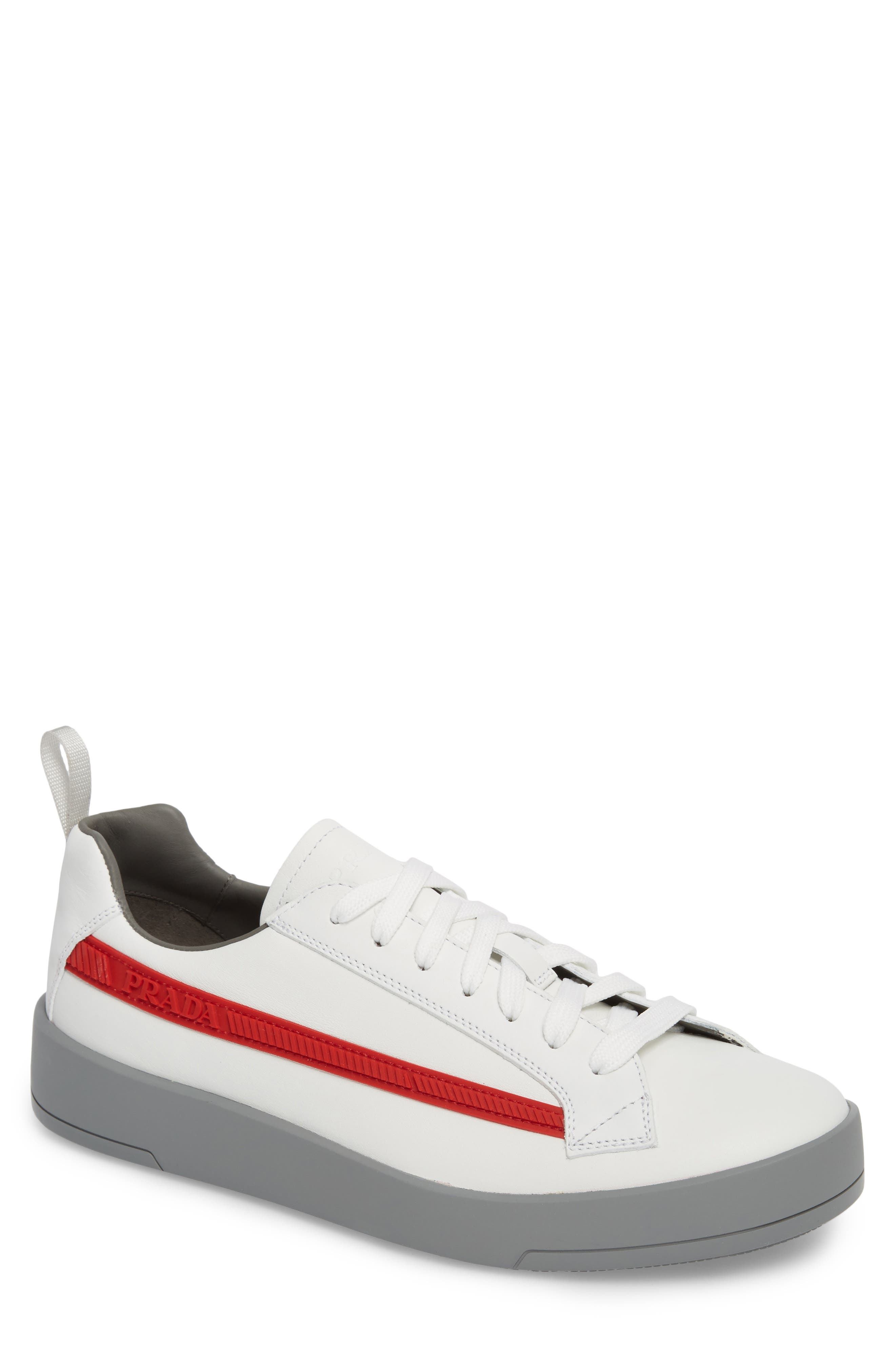 Linea Rossa Sneaker,                             Main thumbnail 1, color,                             Bianco