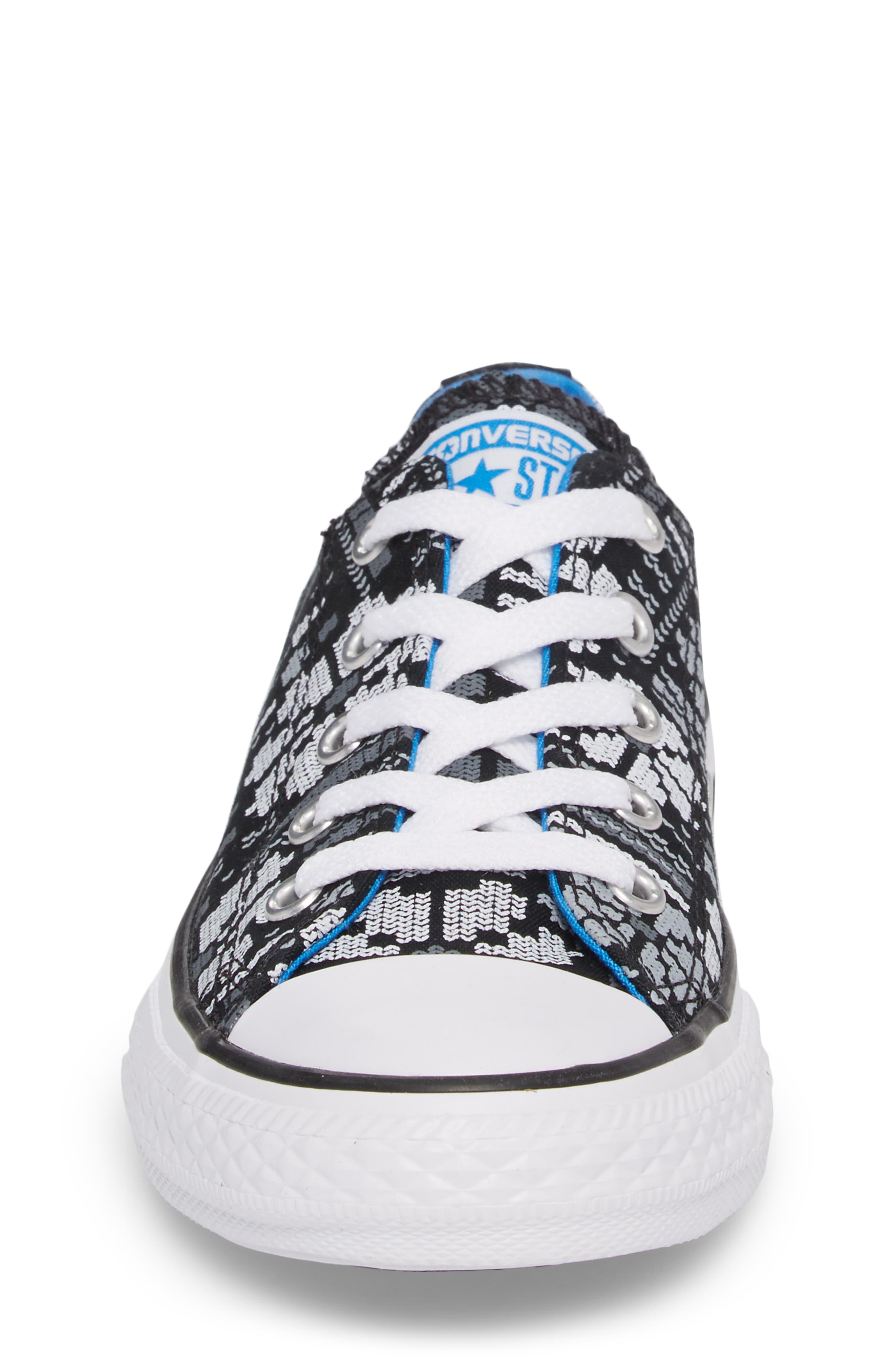 Chuck Taylor<sup>®</sup> All Star<sup>®</sup> Winter Ox Sneaker,                             Alternate thumbnail 4, color,                             Black Canvas