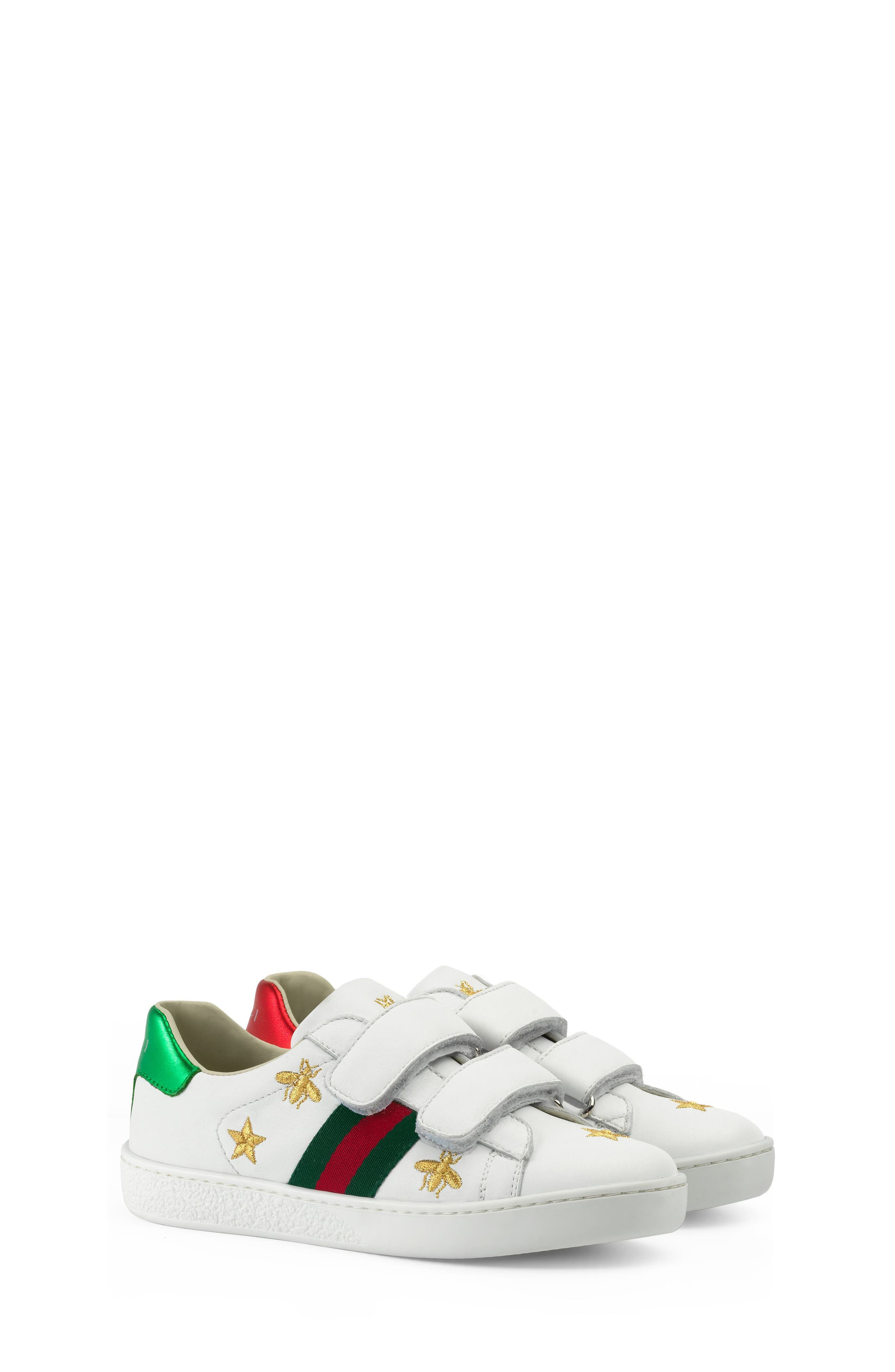 Gucci New Ace Embroidered Sneaker (Toddler & Little Kid)