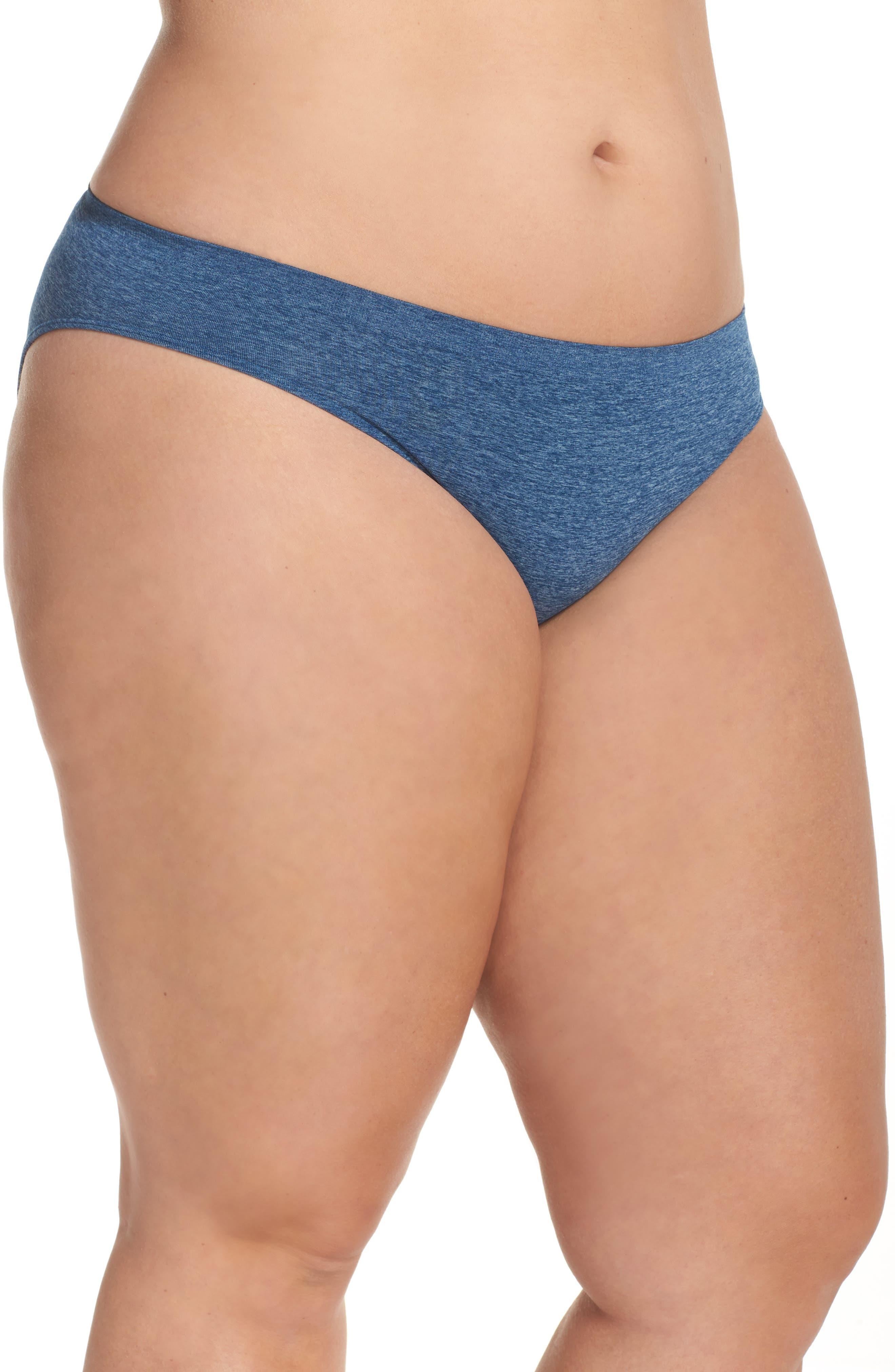 Alternate Image 3  - Halogen® Seamless Bikini (Plus Size) (3 for $33)