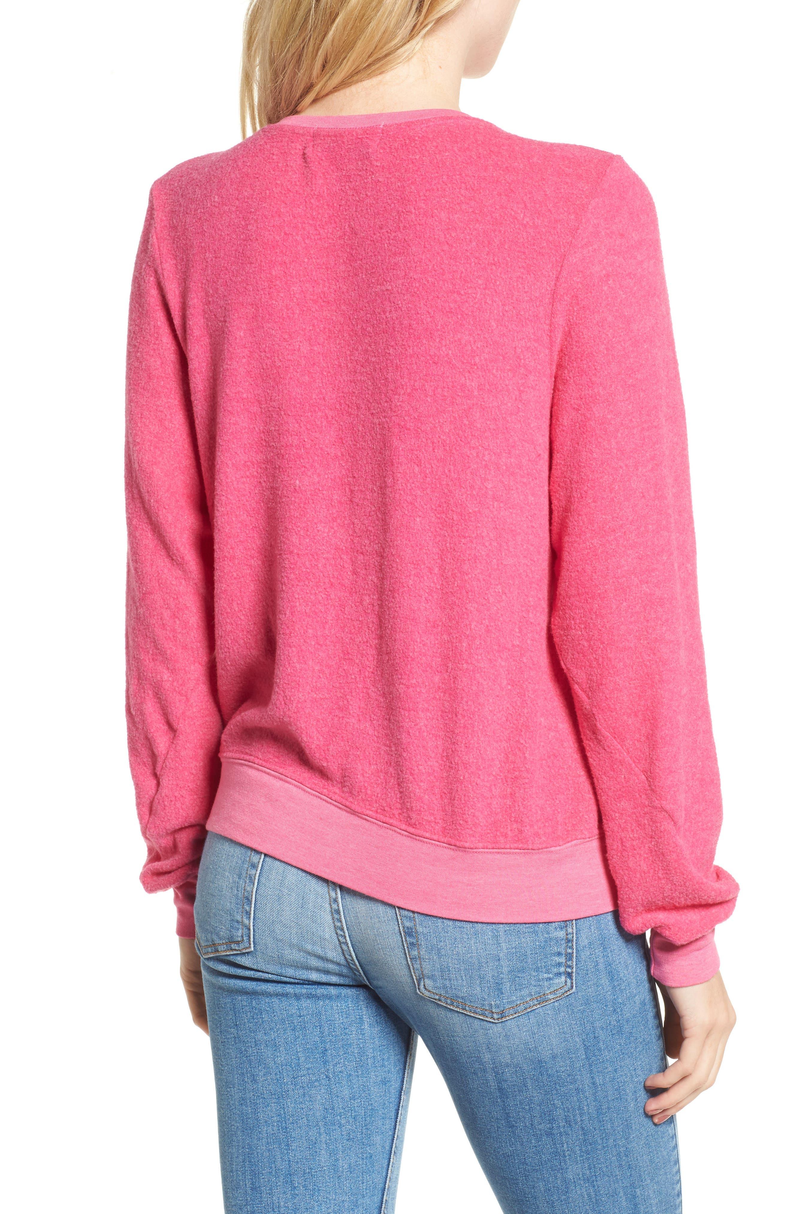 Jet Lagged Sweatshirt,                             Alternate thumbnail 2, color,                             Malibu Pink
