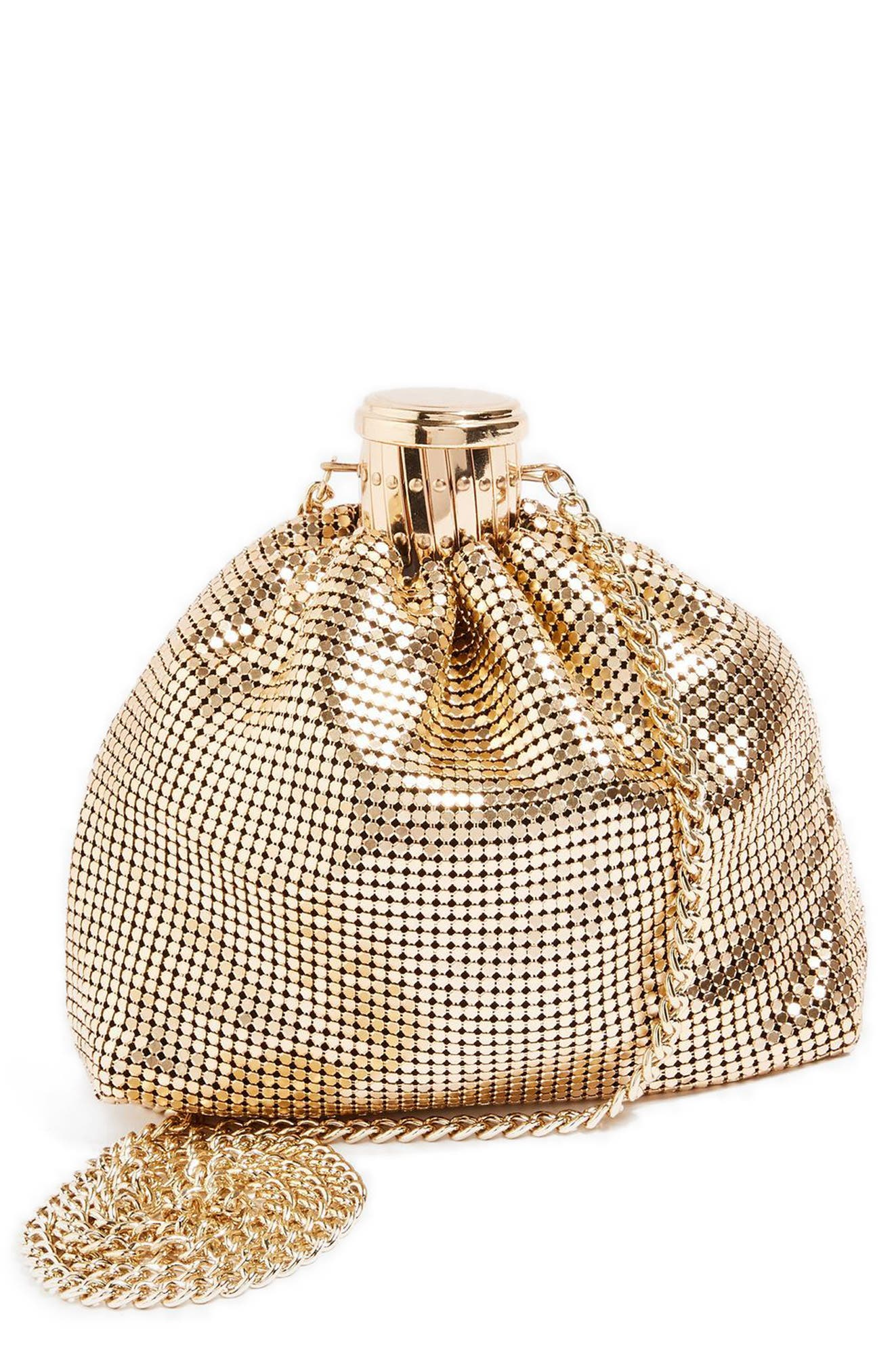 Topshop Chain Mail Pouch Crossbody Bag