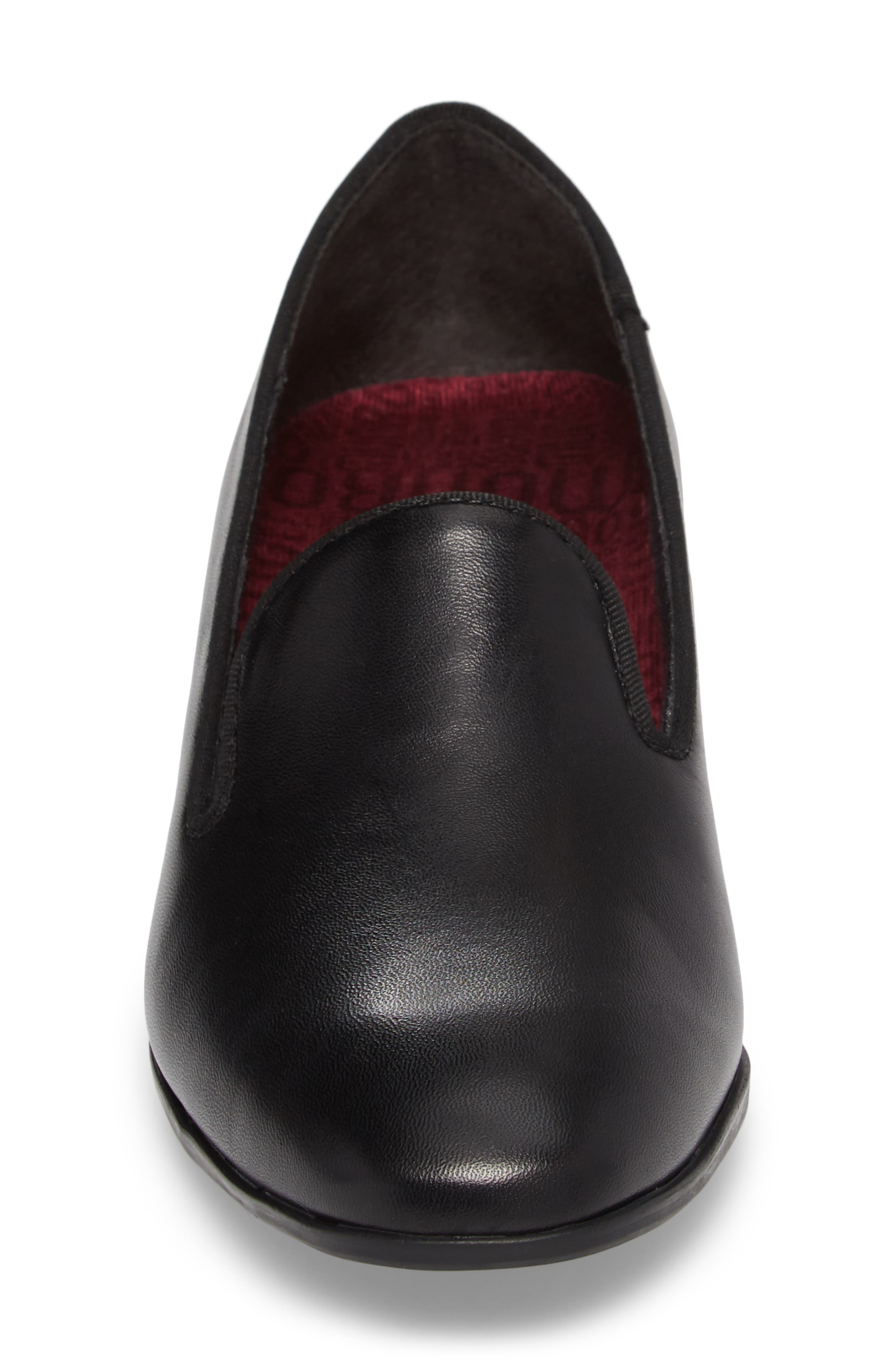 Allee Pump,                             Alternate thumbnail 4, color,                             Black Leather