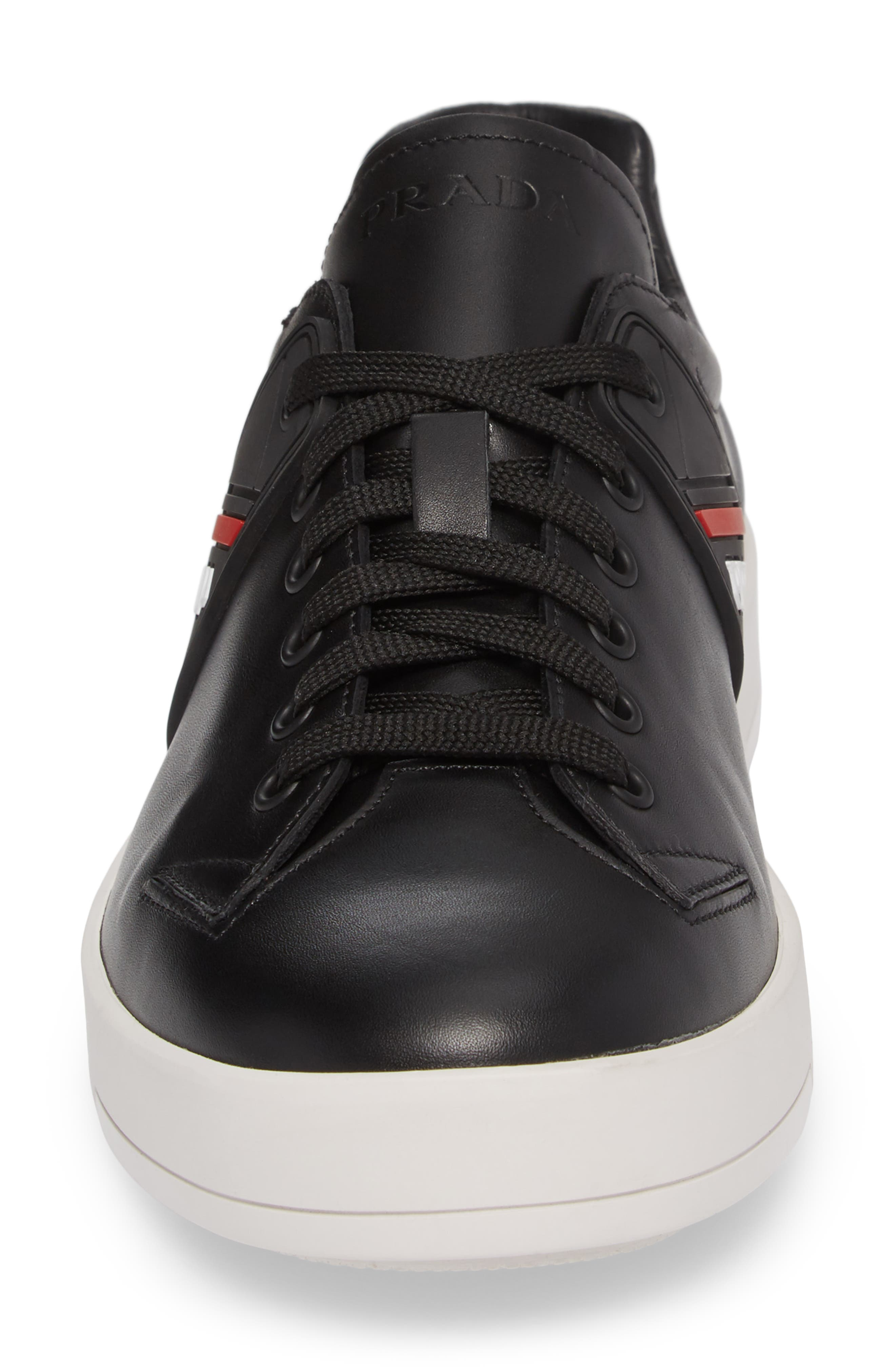 Linea Rossa Sneaker,                             Alternate thumbnail 4, color,                             Nero Bianco