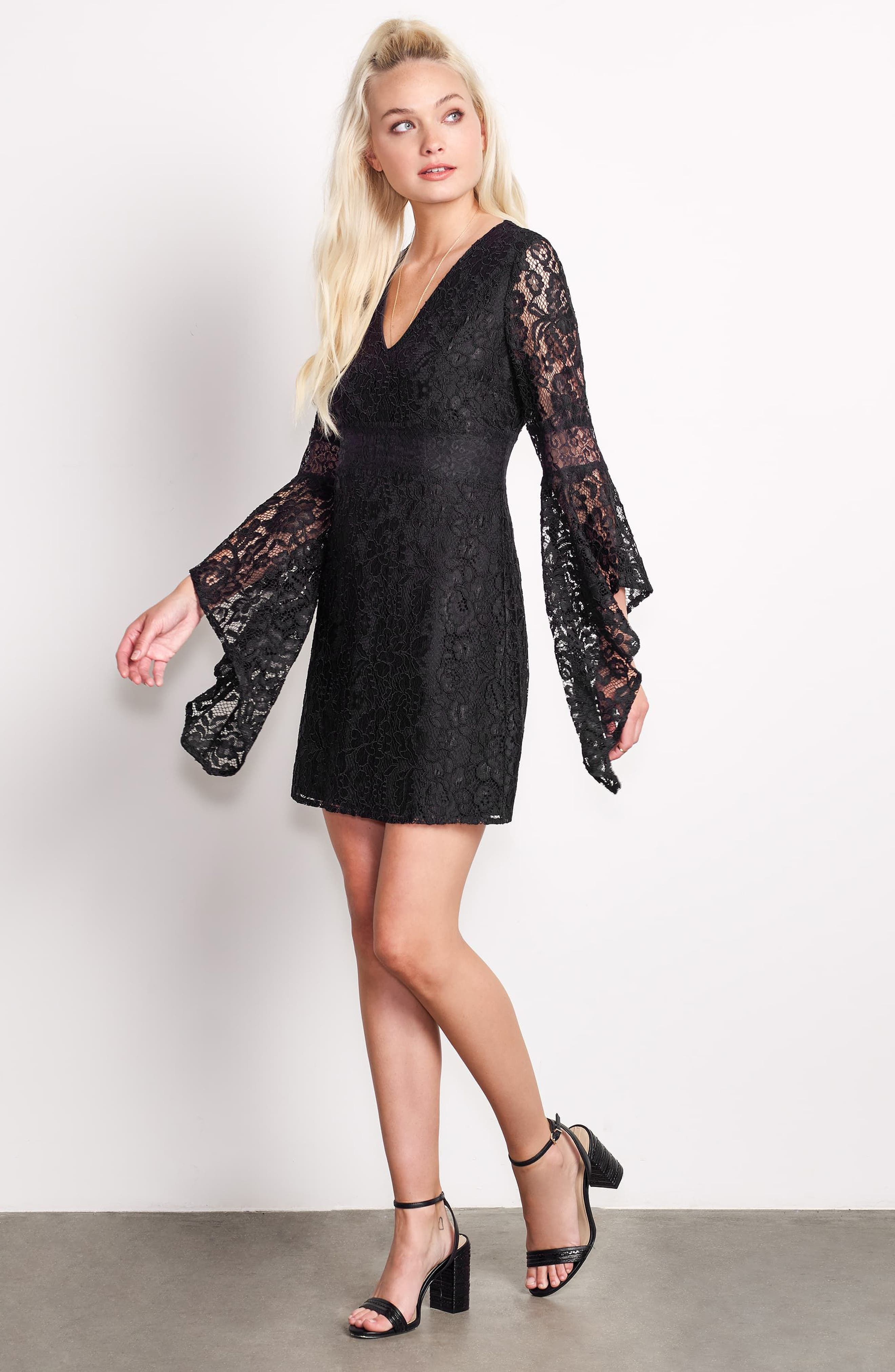 Alternate Image 2  - Ali & Jay Le Fete Lace Bell Sleeve Dress