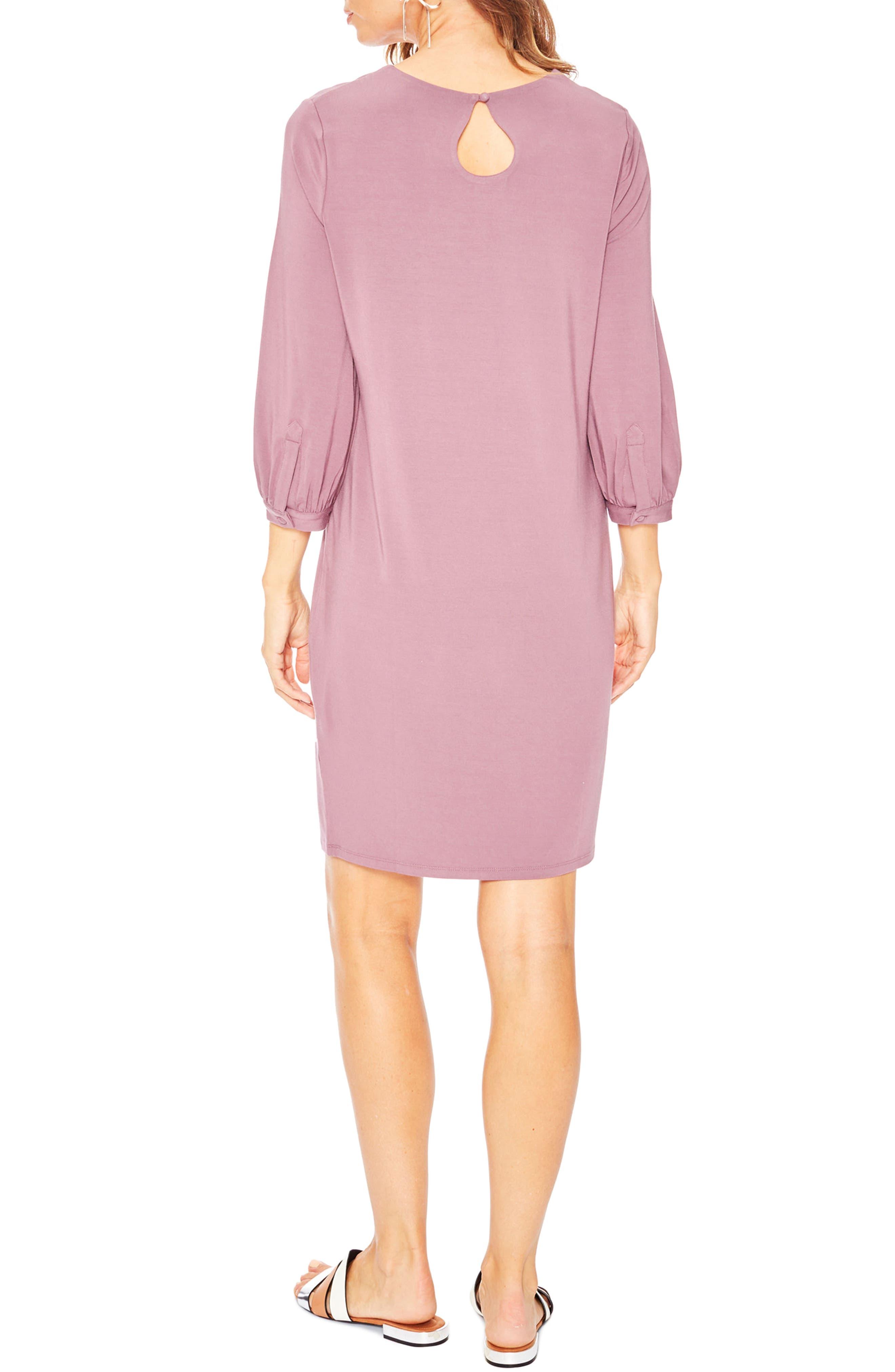 'Hampton' Maternity Dress,                             Alternate thumbnail 2, color,                             Stone Rose