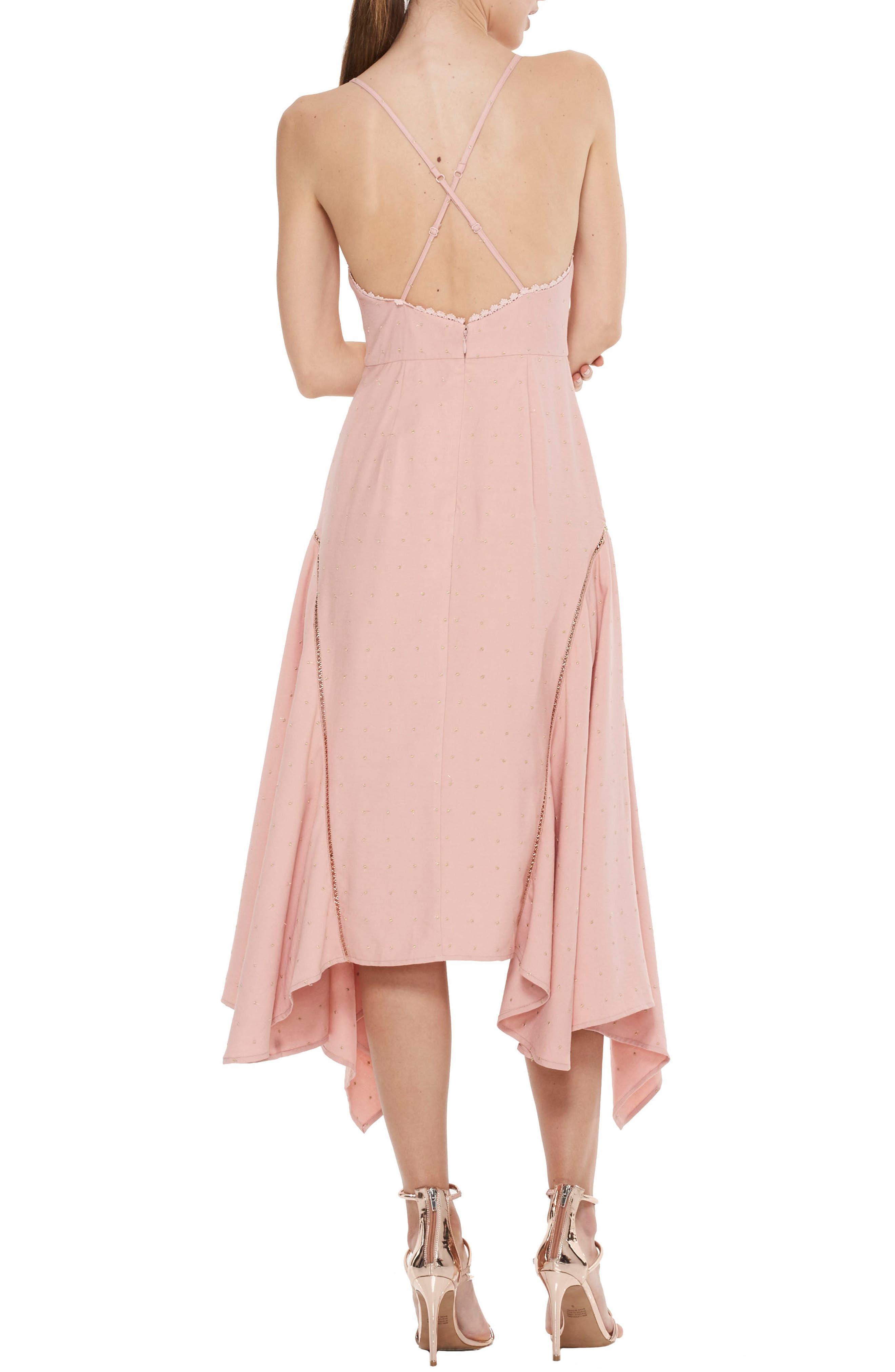 Penelope Embellished Godet Dress,                             Alternate thumbnail 2, color,                             Rose Dust W Gold Spot