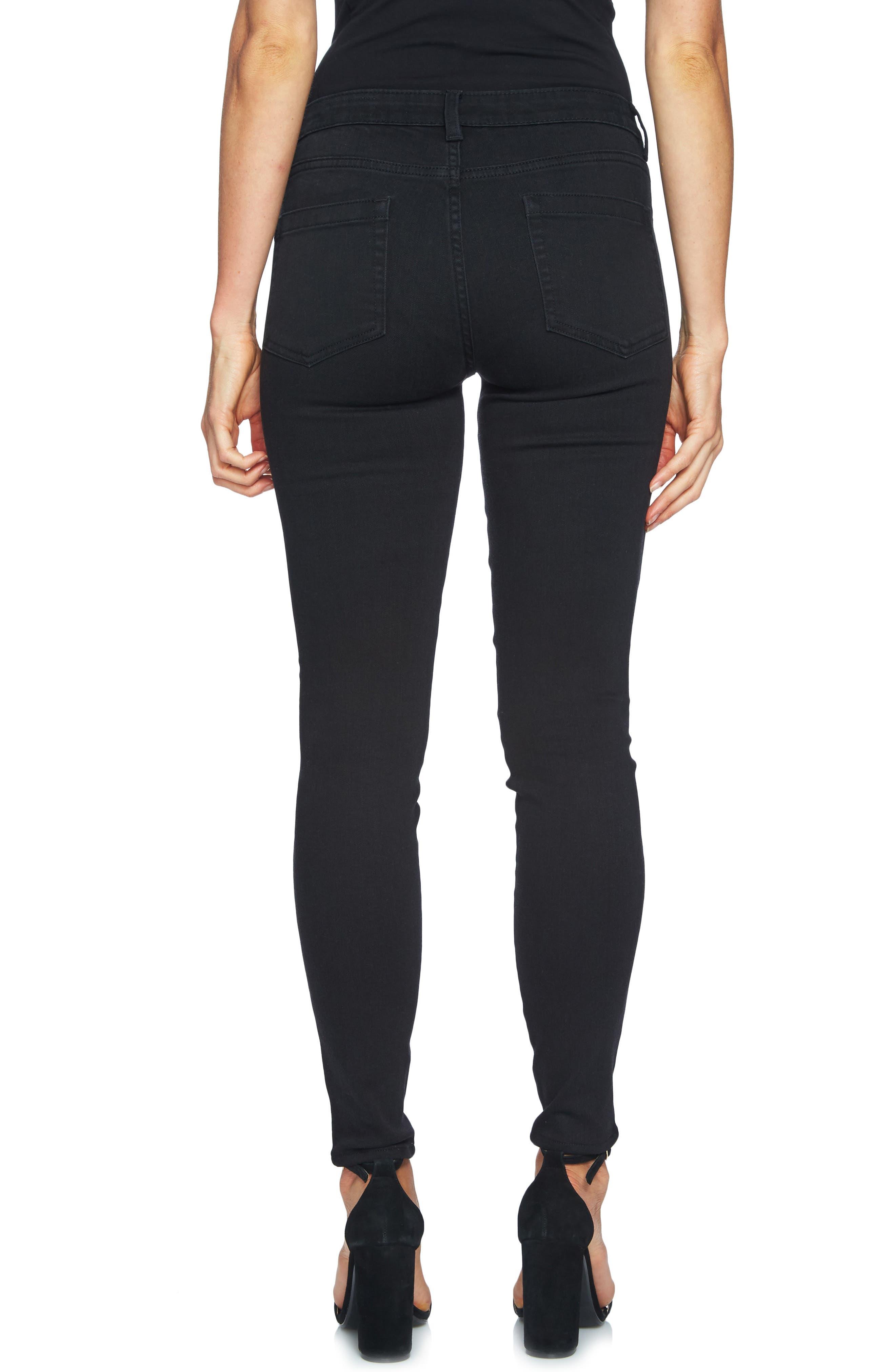 Alternate Image 2  - CeCe Embellished Skinny Jeans (Mod Black)