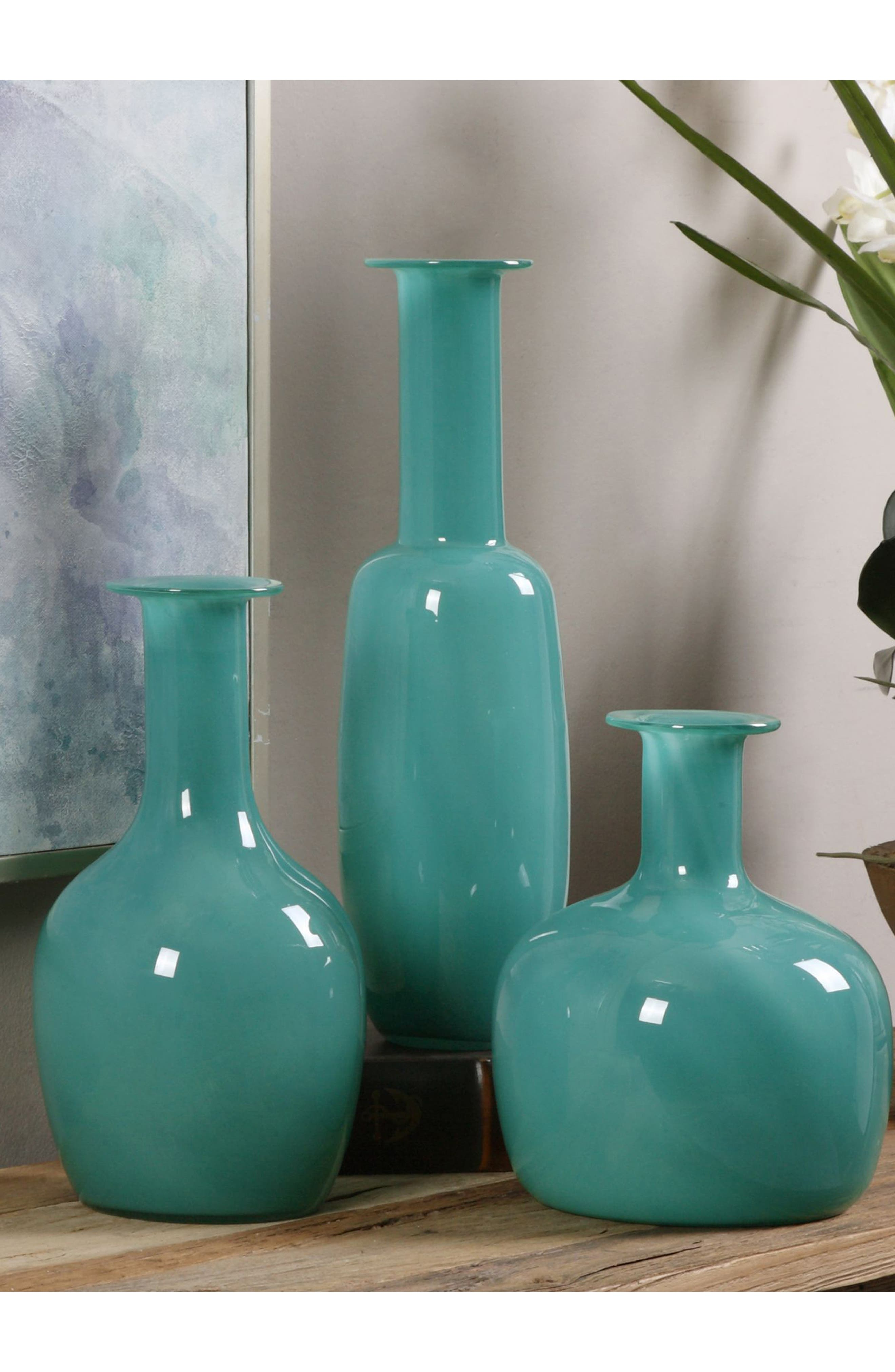 Set of 3 Baram Vases,                             Alternate thumbnail 2, color,                             Green