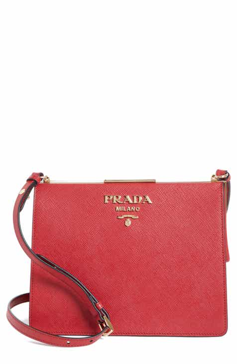 b08a97482271 Prada Small Frame Saffiano   City Calfskin Leather Shoulder Bag