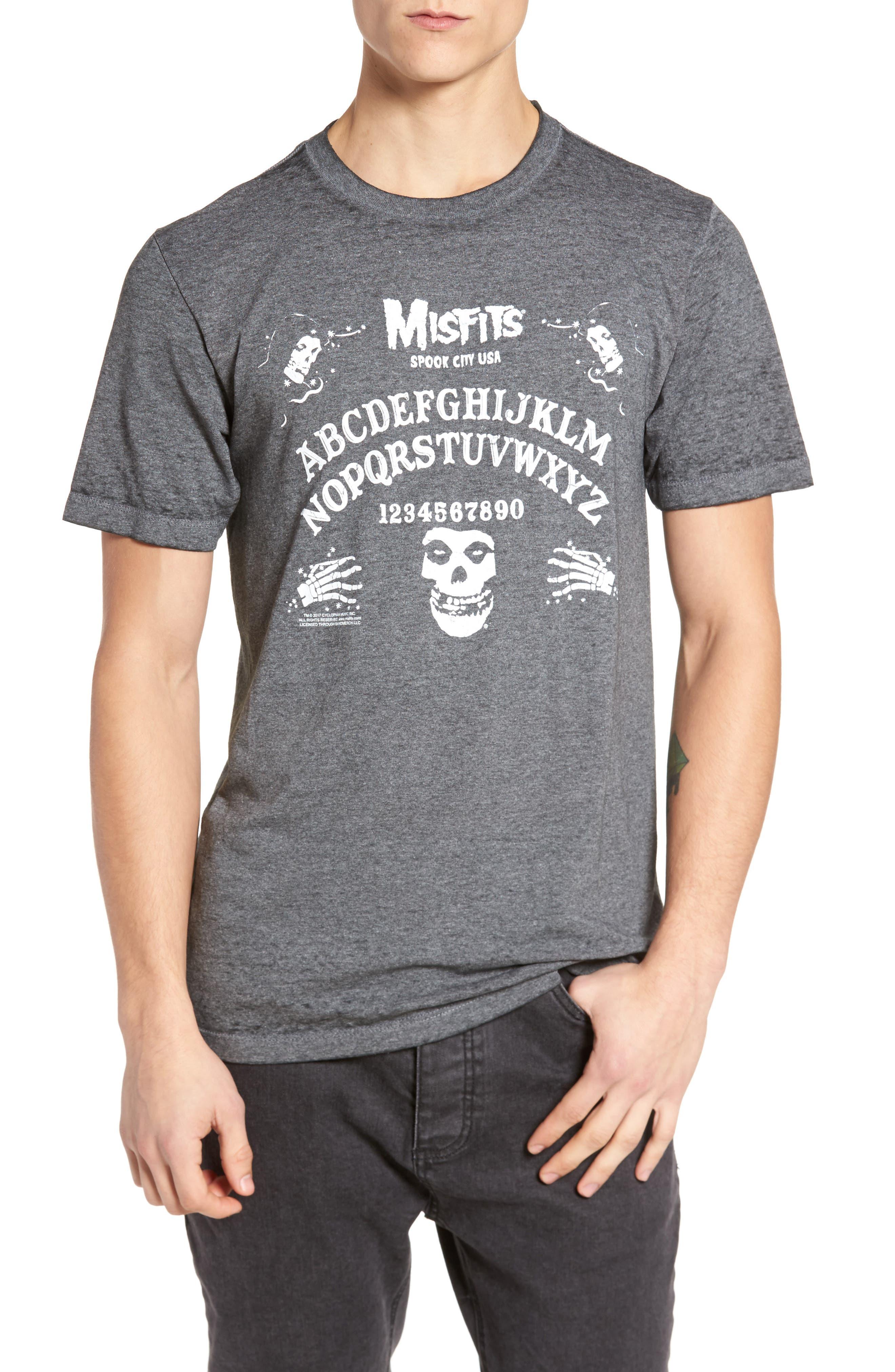 Misfits Short Sleeve T-Shirt,                             Main thumbnail 1, color,                             Black Misfits Ouija