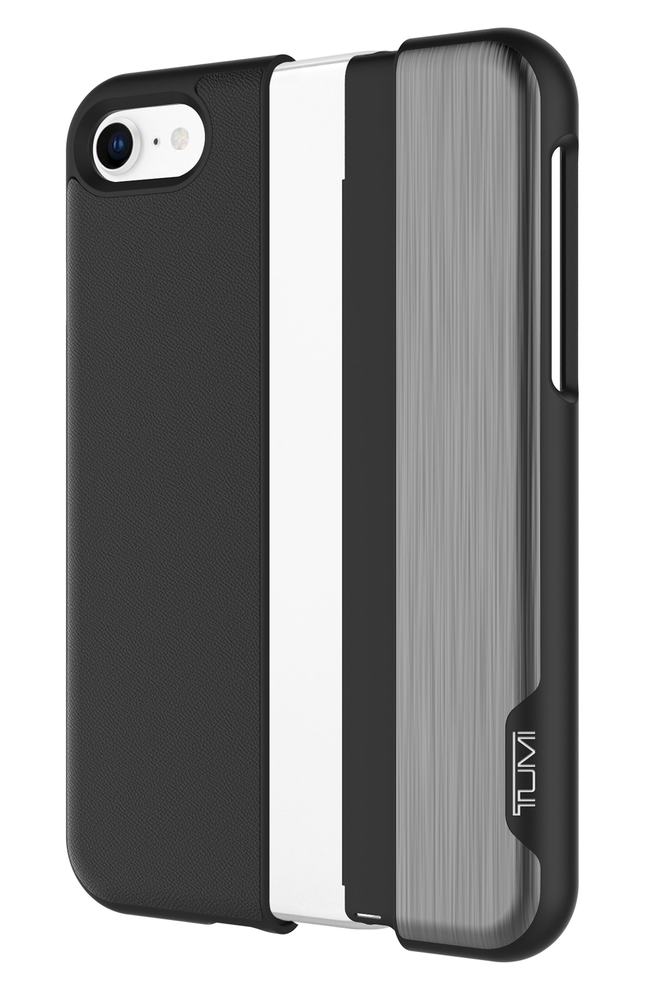 Vertical Slider iPhone 8 Case,                             Alternate thumbnail 3, color,                             Black Gunmetal