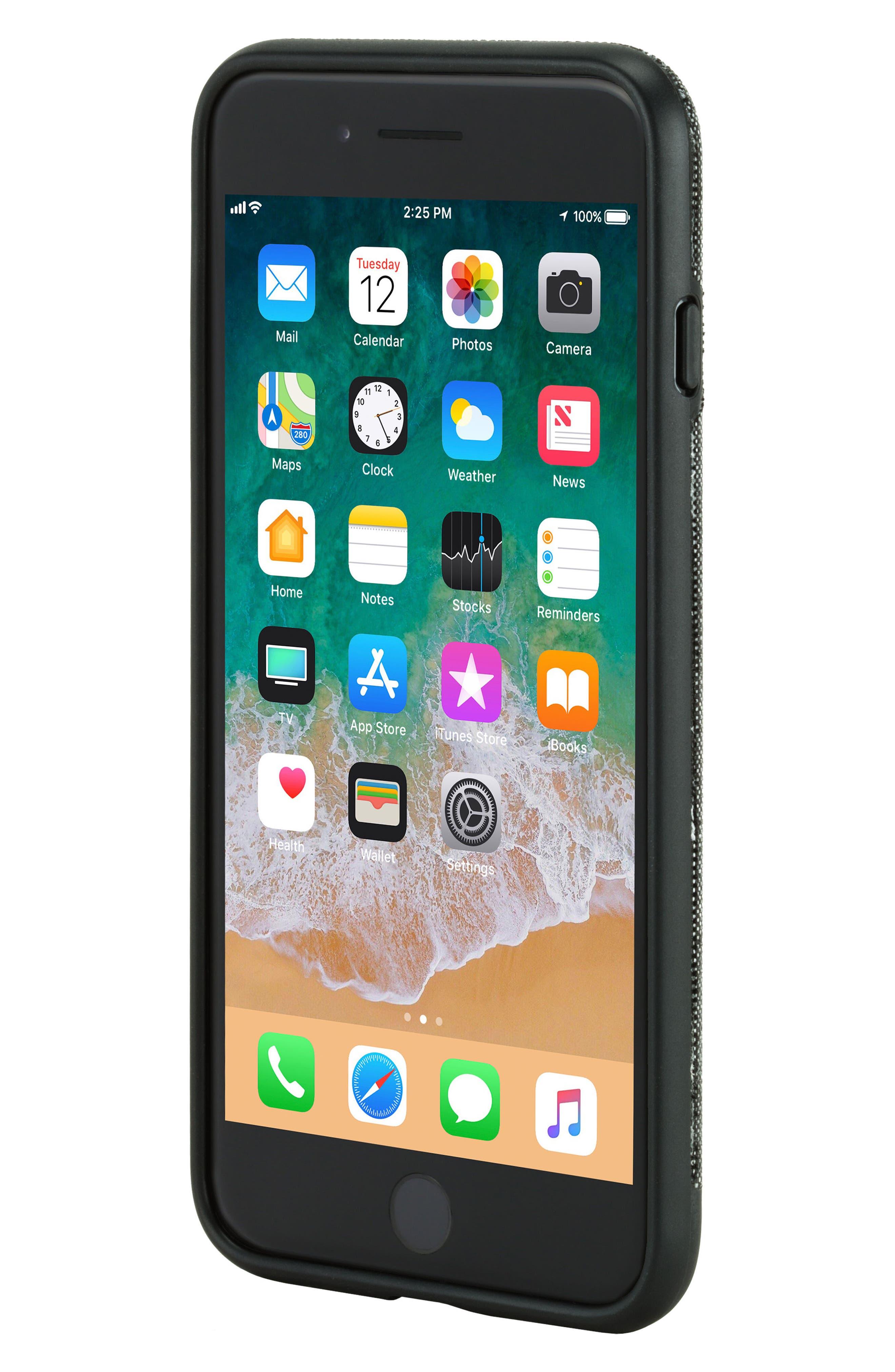 iPhone 7 Plus/8 Plus Case,                             Alternate thumbnail 7, color,                             Black Diamond Ripstop