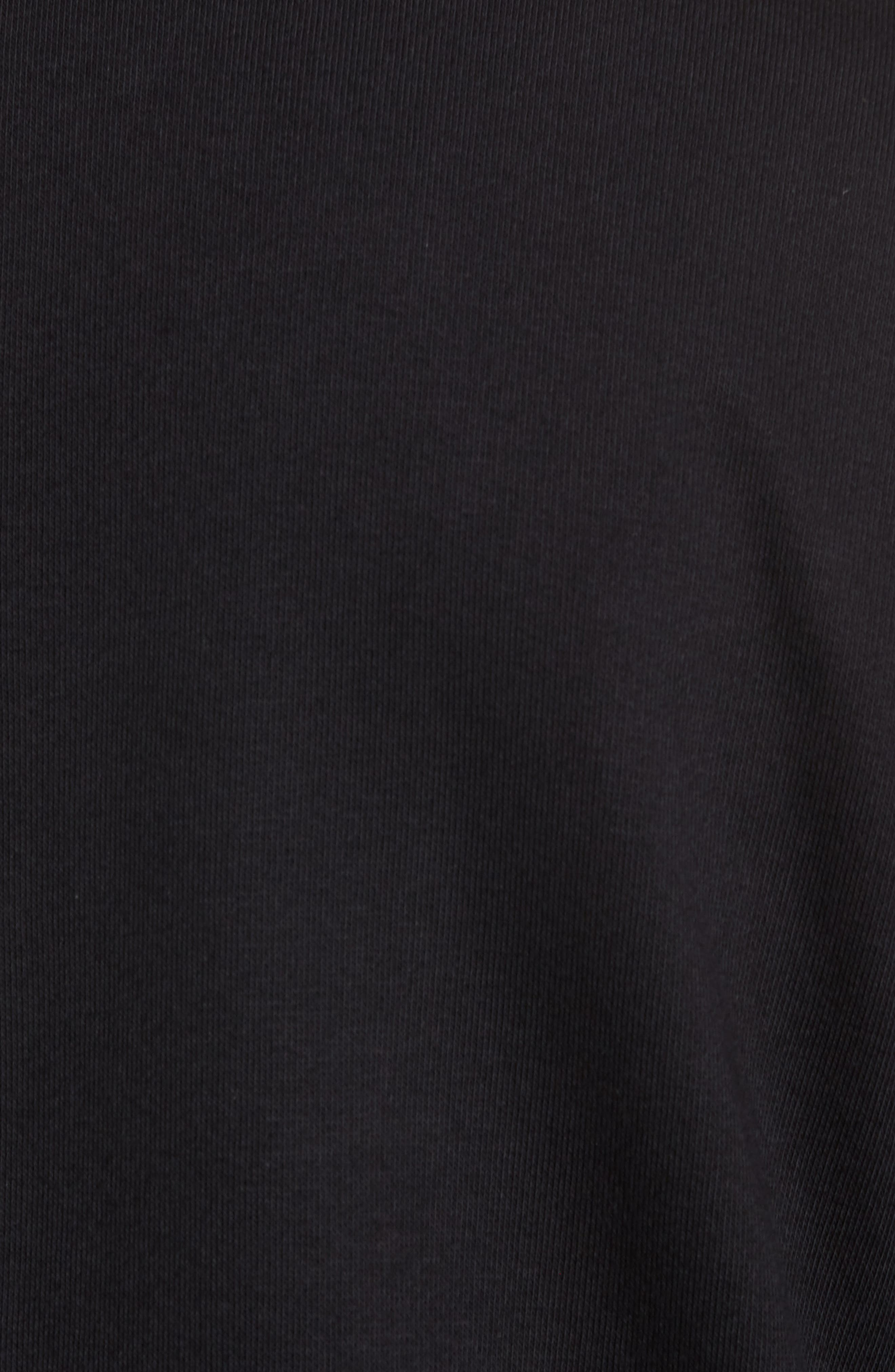 Quarter Zip Fleece Pullover,                             Alternate thumbnail 5, color,                             Black