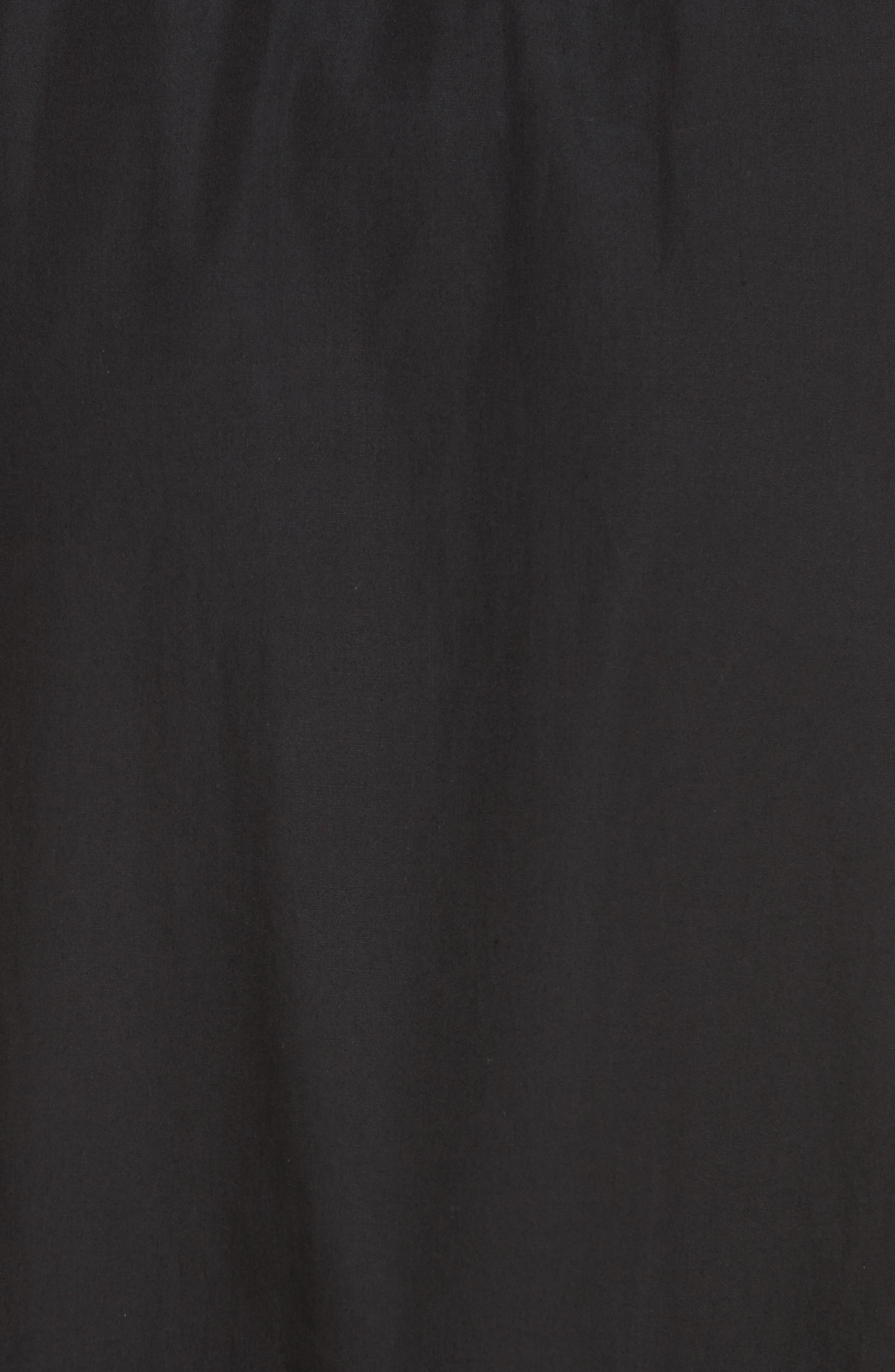 Ruffled Poplin Skirt,                             Alternate thumbnail 5, color,                             Nero