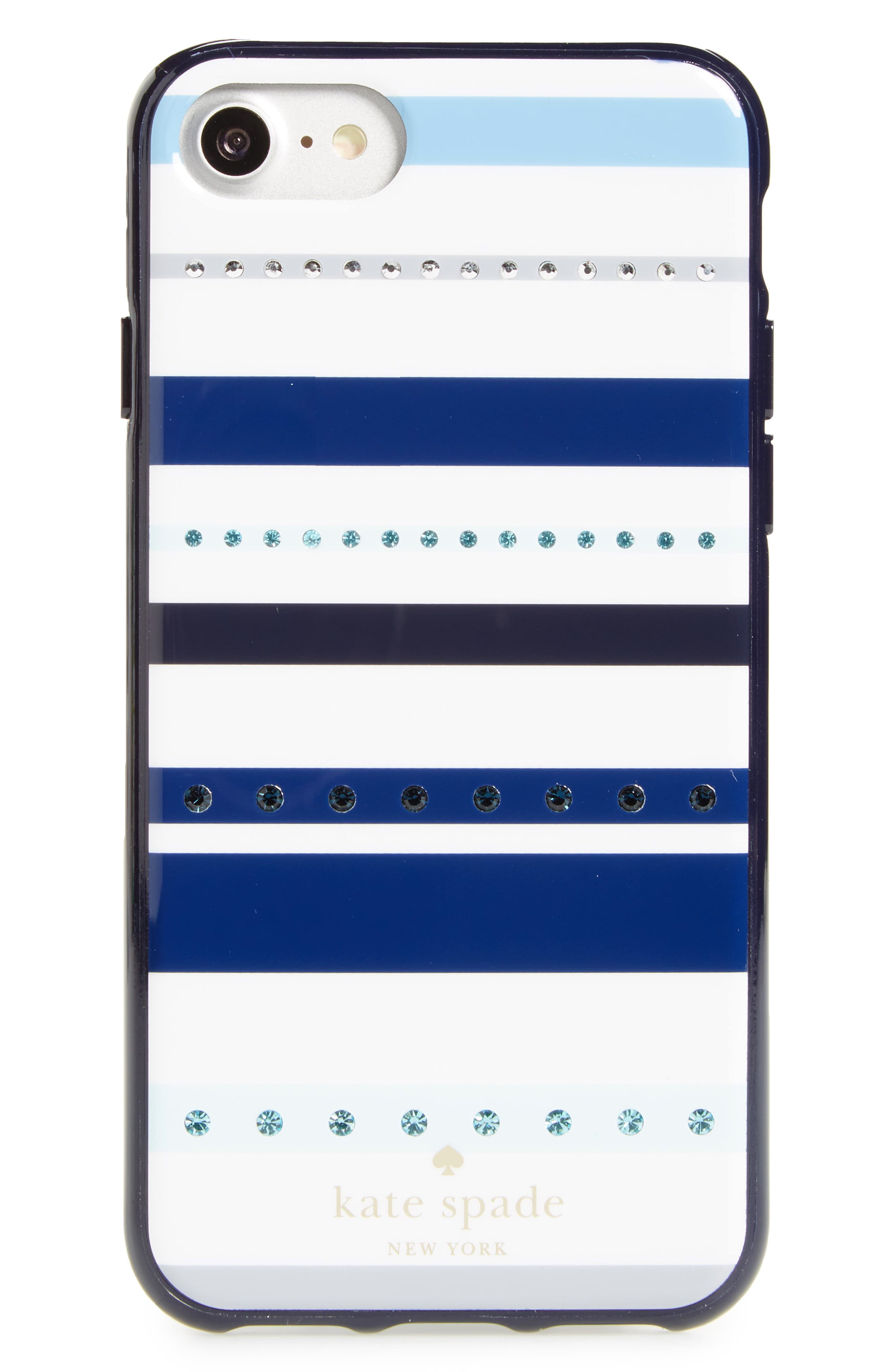 Alternate Image 1 Selected - kate spade new york jeweled stripe iPhone 7/8 & 7/8 Plus cover
