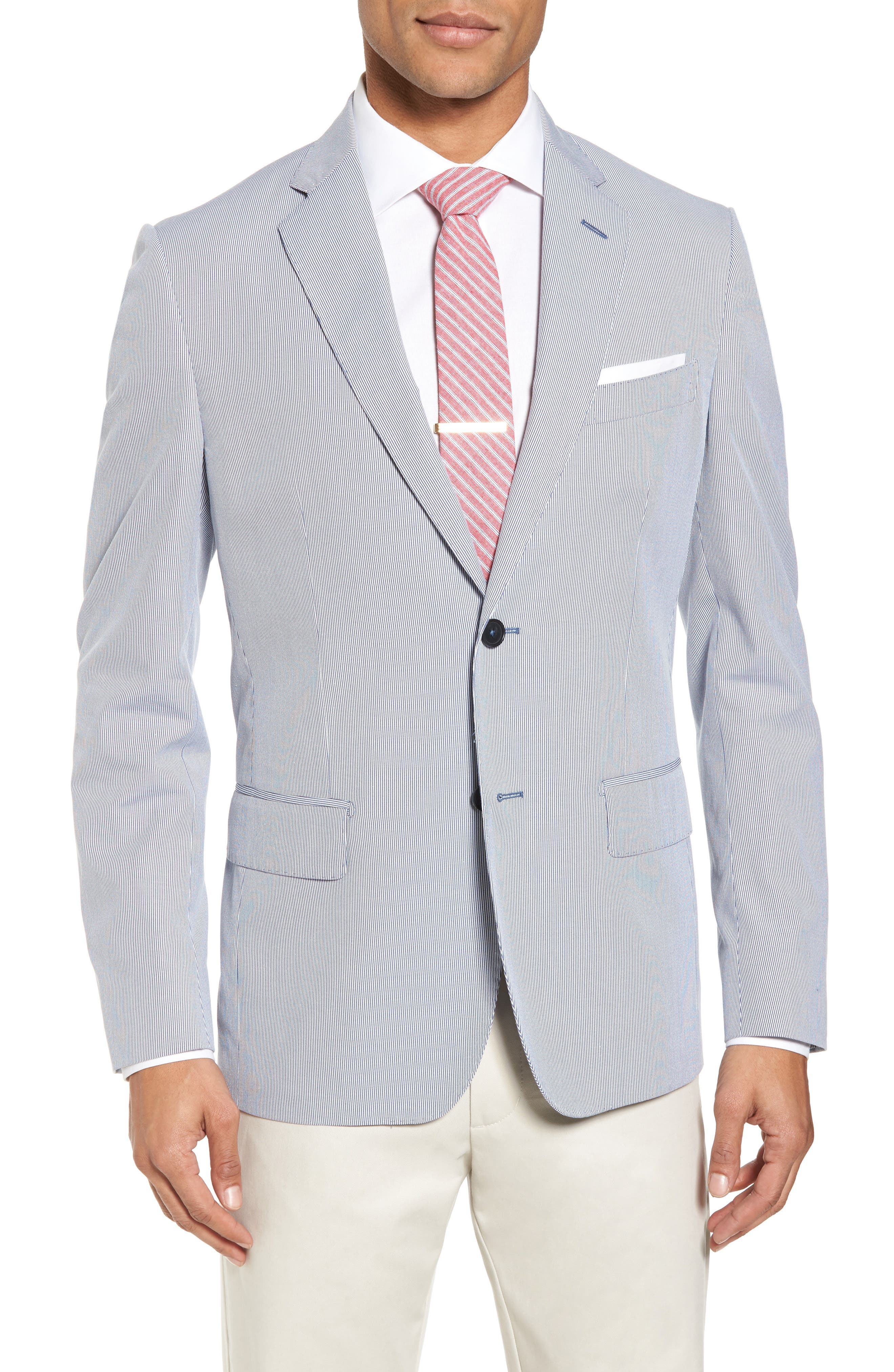 Alternate Image 1 Selected - JB Britches Classic Fit Stripe Sport Coat