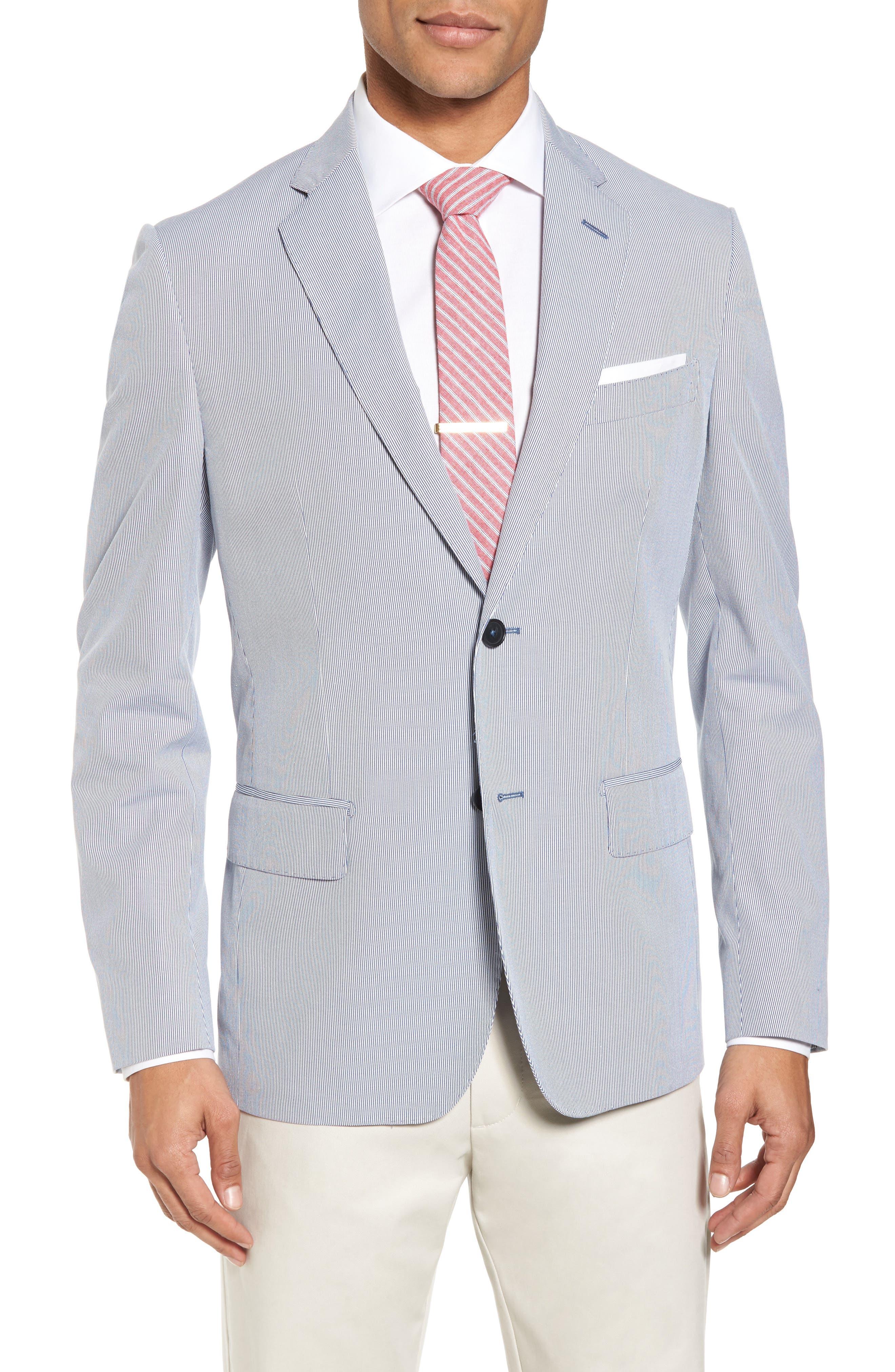 Classic Fit Stripe Sport Coat,                         Main,                         color, Navy