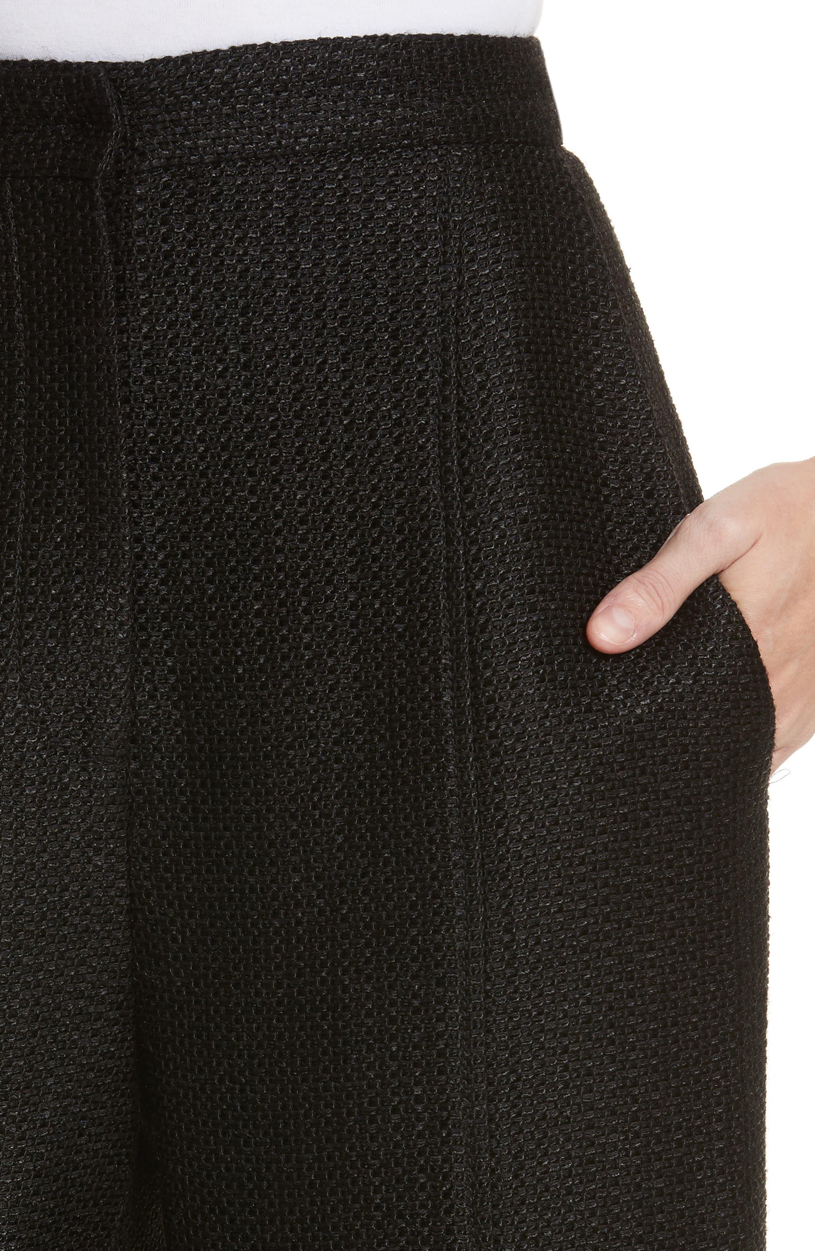 Tweed Pants,                             Alternate thumbnail 4, color,                             Black