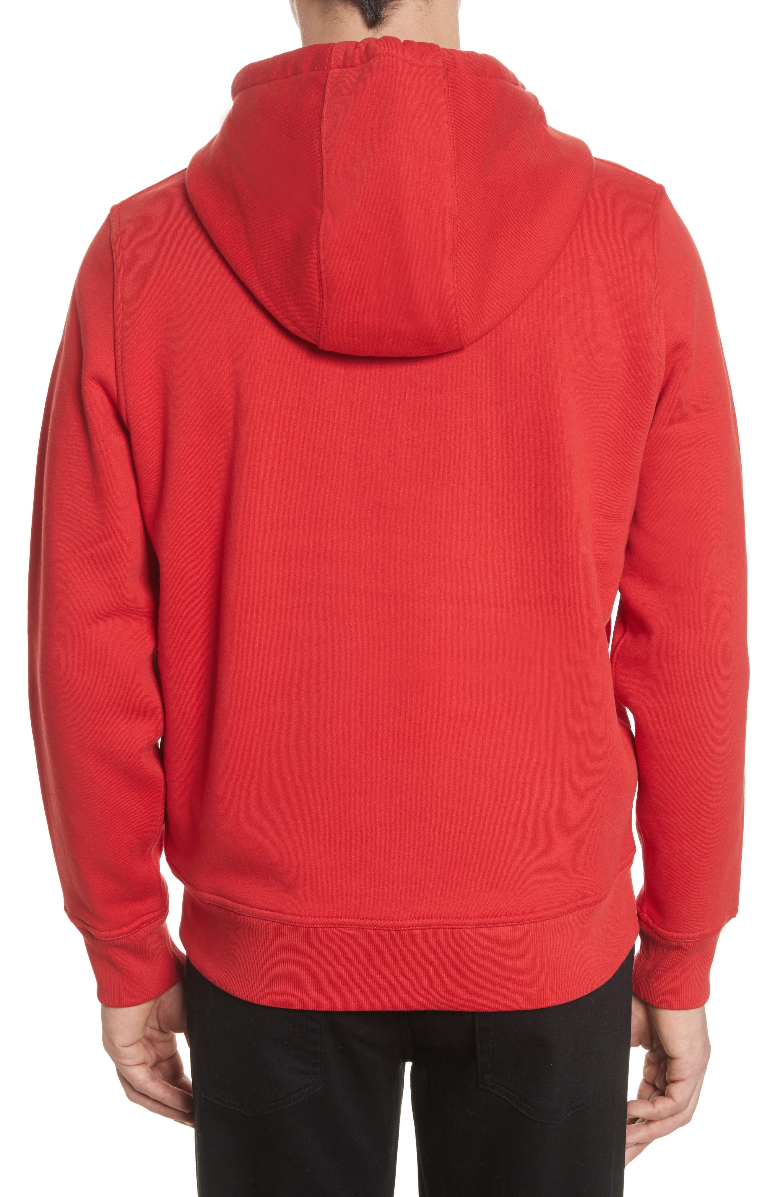 Fordson Fleece Hoodie,                             Alternate thumbnail 2, color,                             Military Red