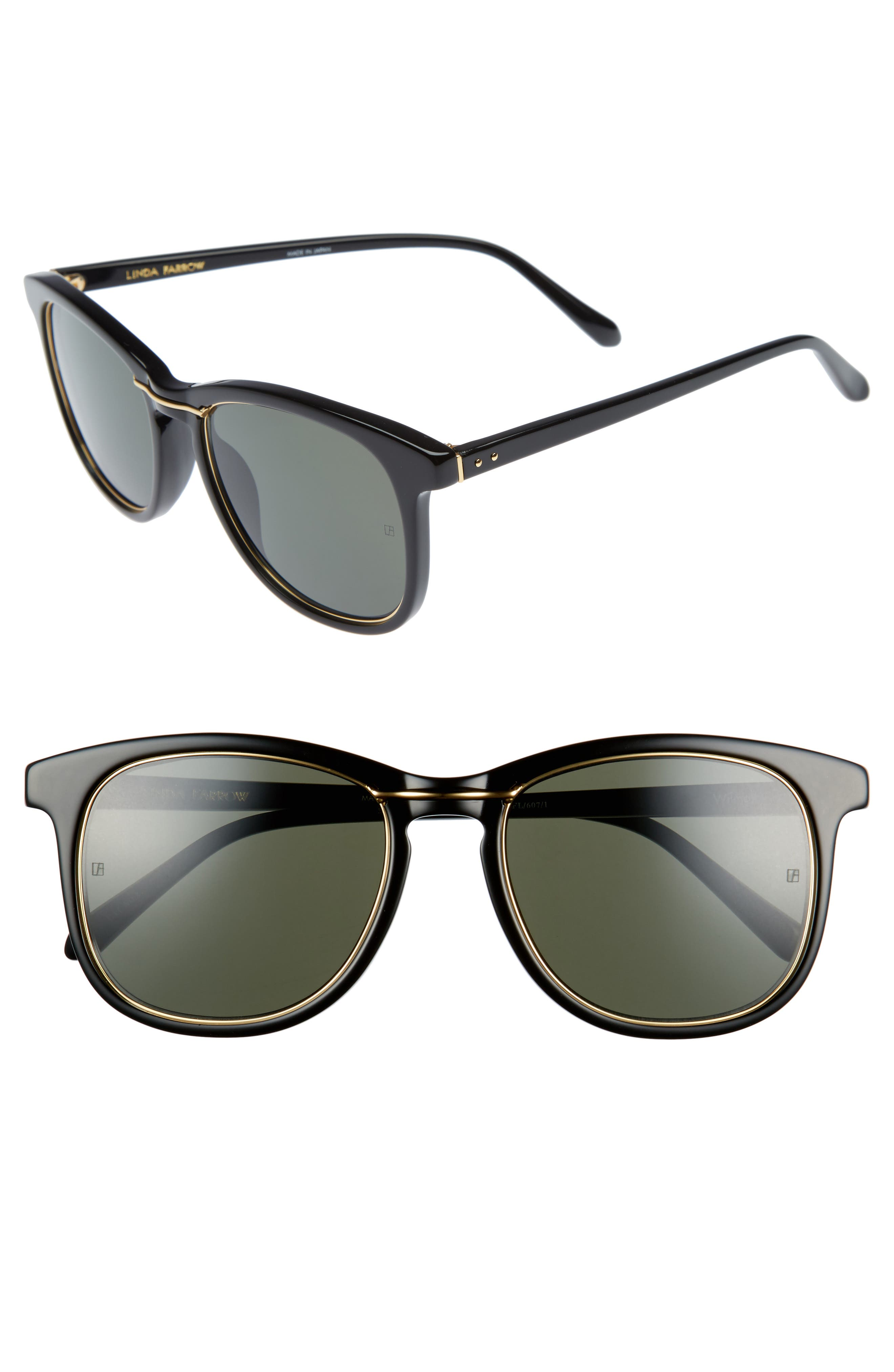 53mm Sunglasses,                             Main thumbnail 1, color,                             Wilmott Black/ Yellow Gold