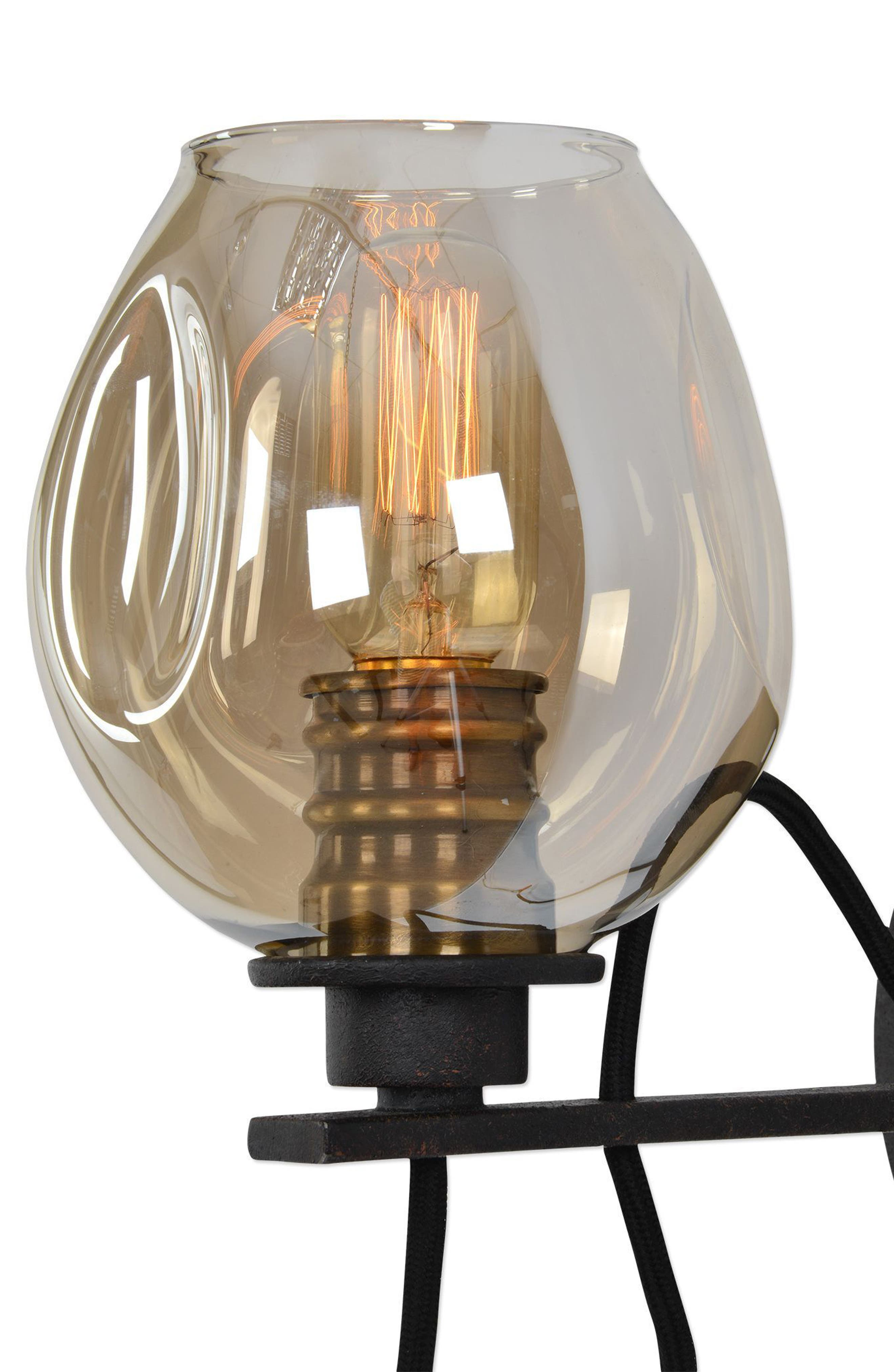 Fritz Wall Sconce,                             Alternate thumbnail 5, color,                             Brown