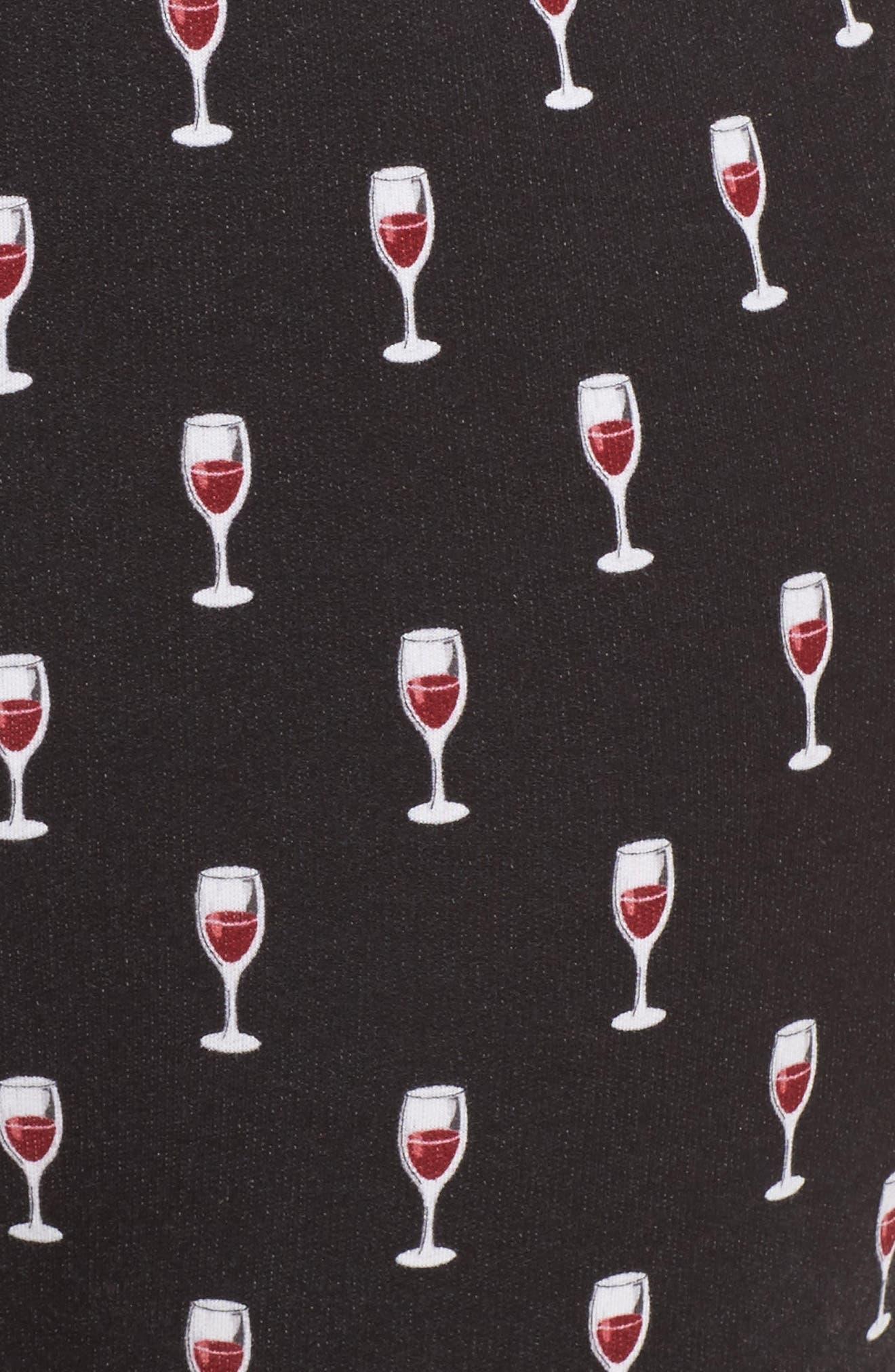 Wine Glasses Pajama Pants,                             Alternate thumbnail 7, color,                             Black