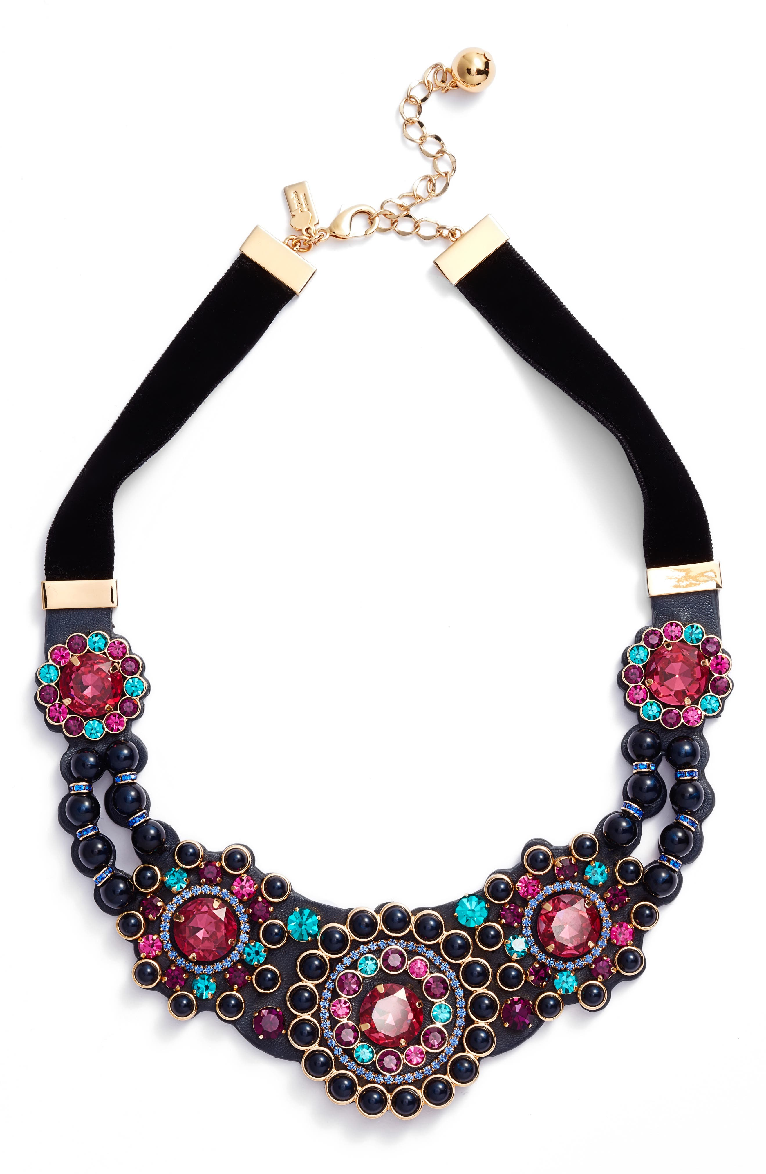 luminous small statement necklace,                         Main,                         color, Multi
