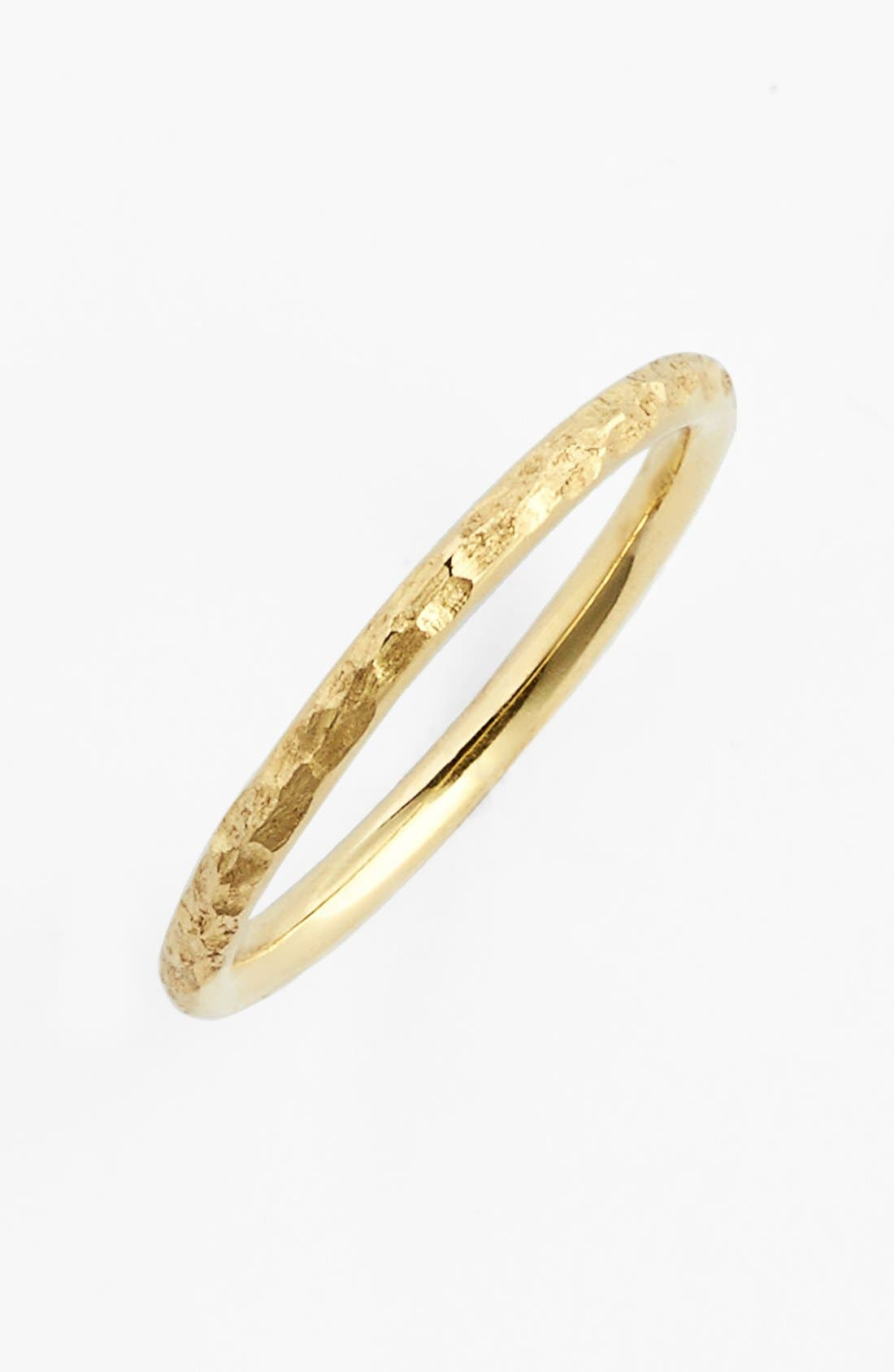 Hammered 14k Gold Midi Ring,                             Main thumbnail 1, color,                             Yellow Gold