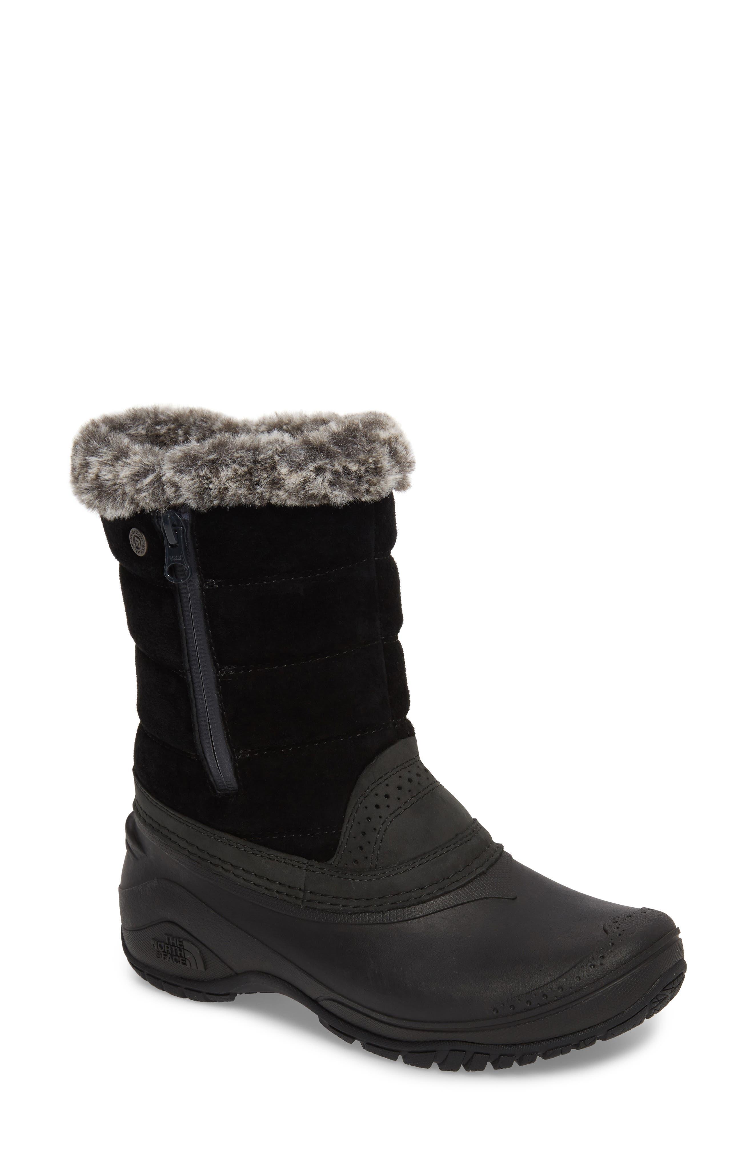 Shellista III Waterproof Pull-On Snow Boot,                             Main thumbnail 1, color,                             Tnf Black