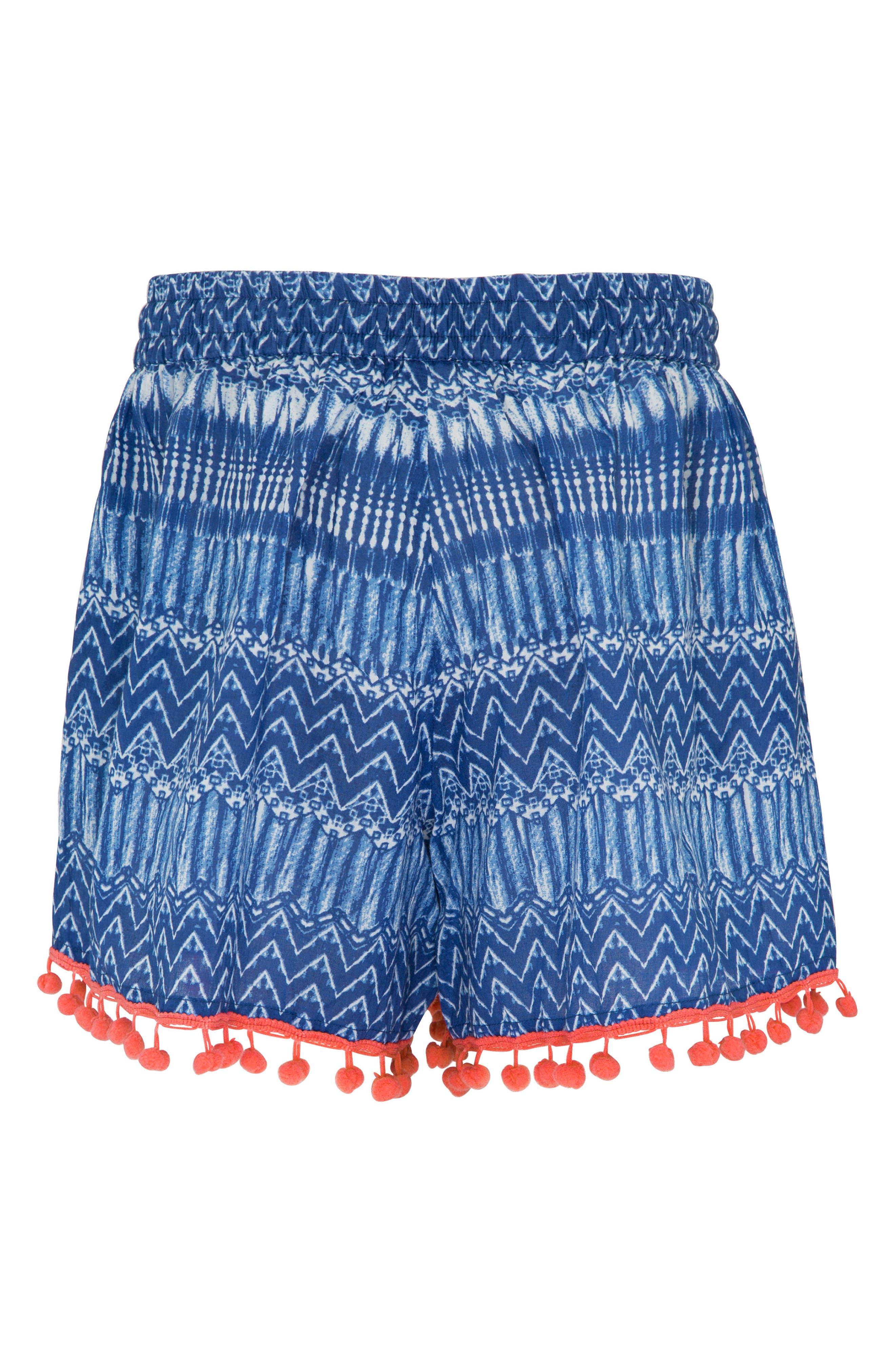 Alternate Image 2  - Platypus Australia Print Cover-Up Shorts (Big Girls)