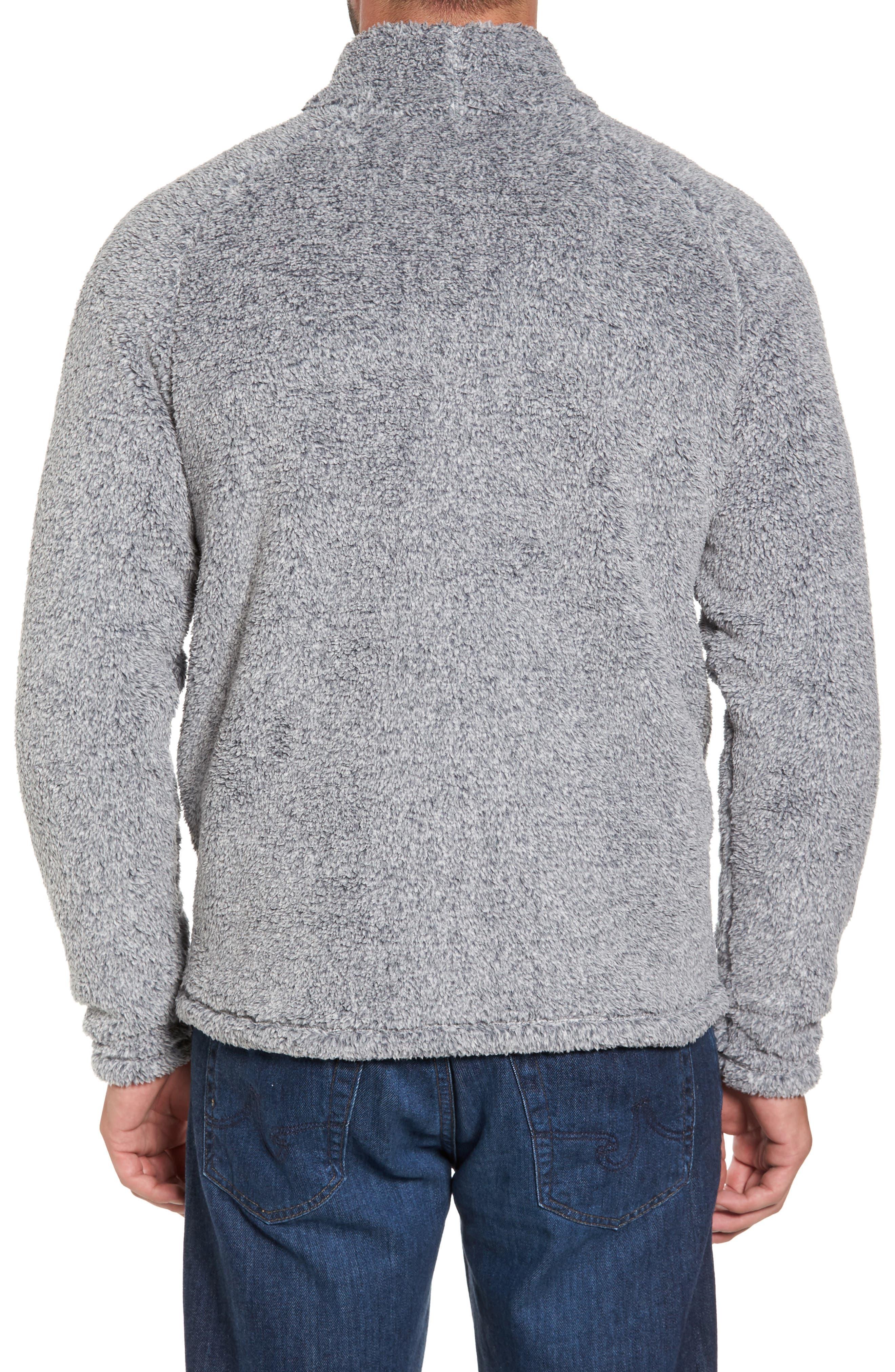Polar Fleece Quarter Zip Pullover,                             Alternate thumbnail 2, color,                             Black Caviar Heather