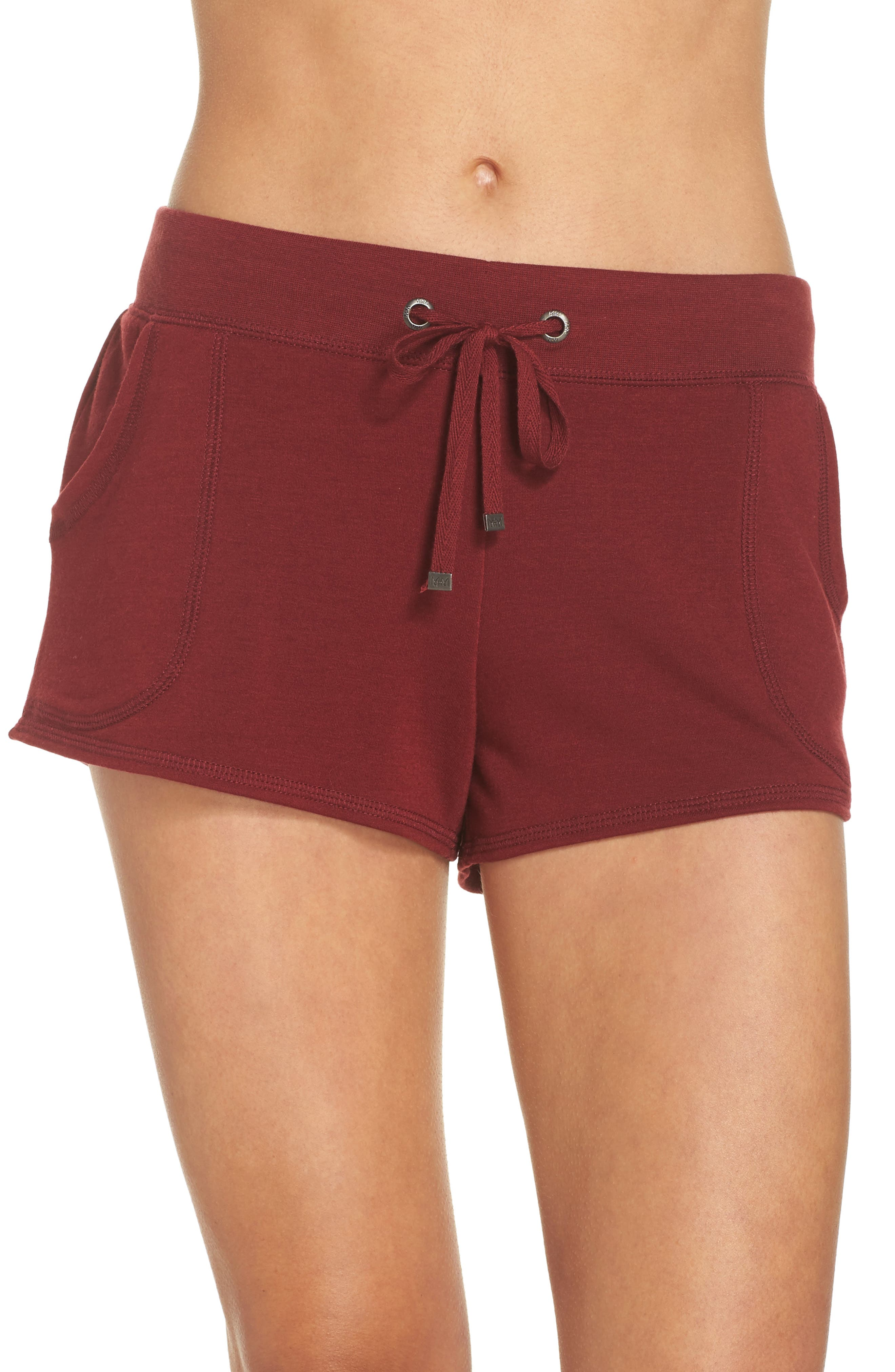 Down To The Details Lounge Shorts,                         Main,                         color, Red Grape