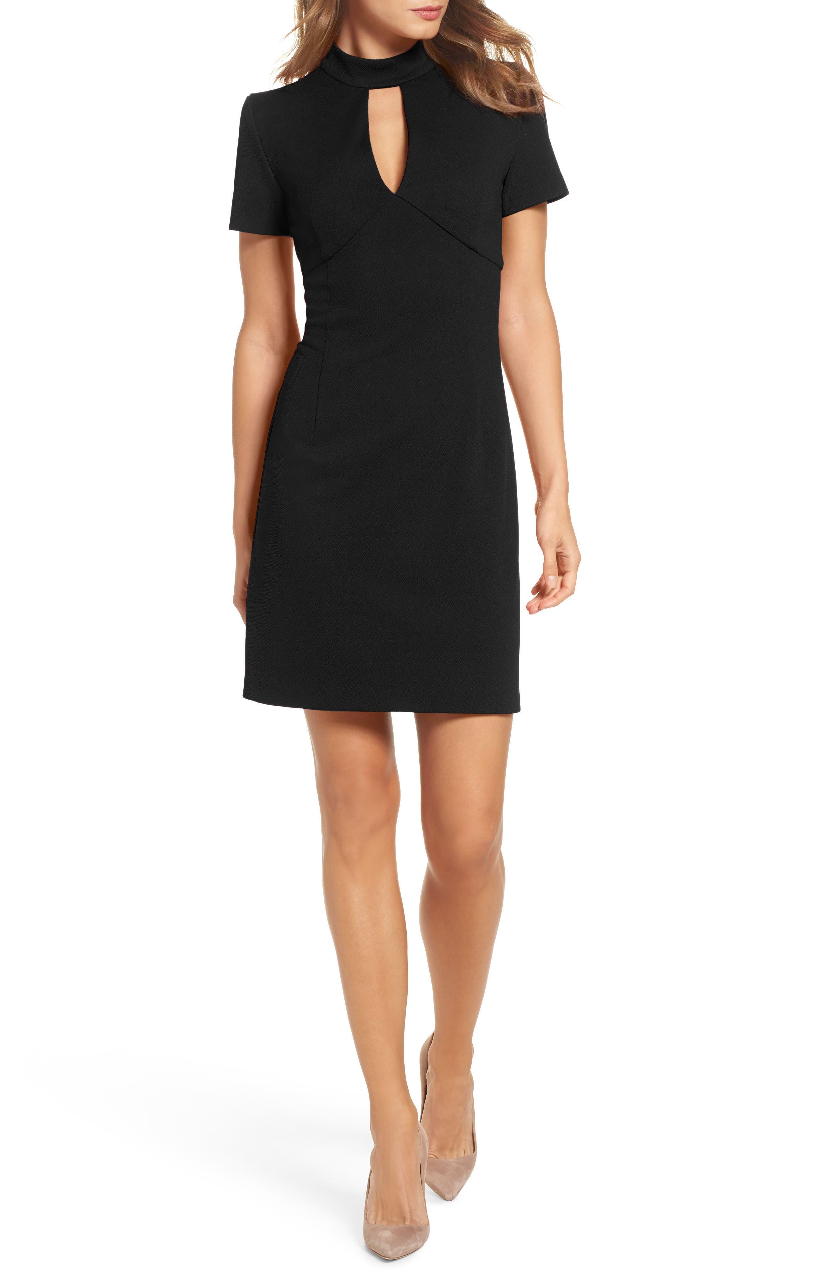 Main Image - trina Trina Turk Camari Choker Collar Sheath Dress
