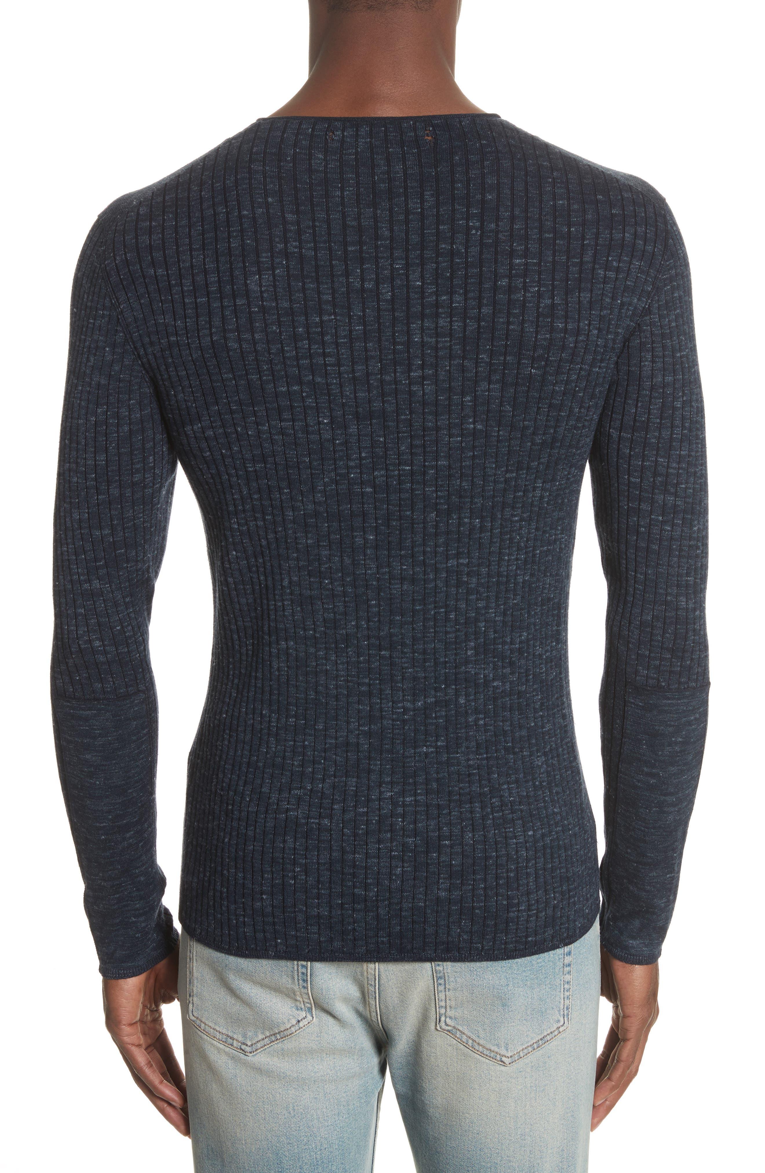 Alternate Image 2  - John Varvatos Collection Mélange Stripe Sweater