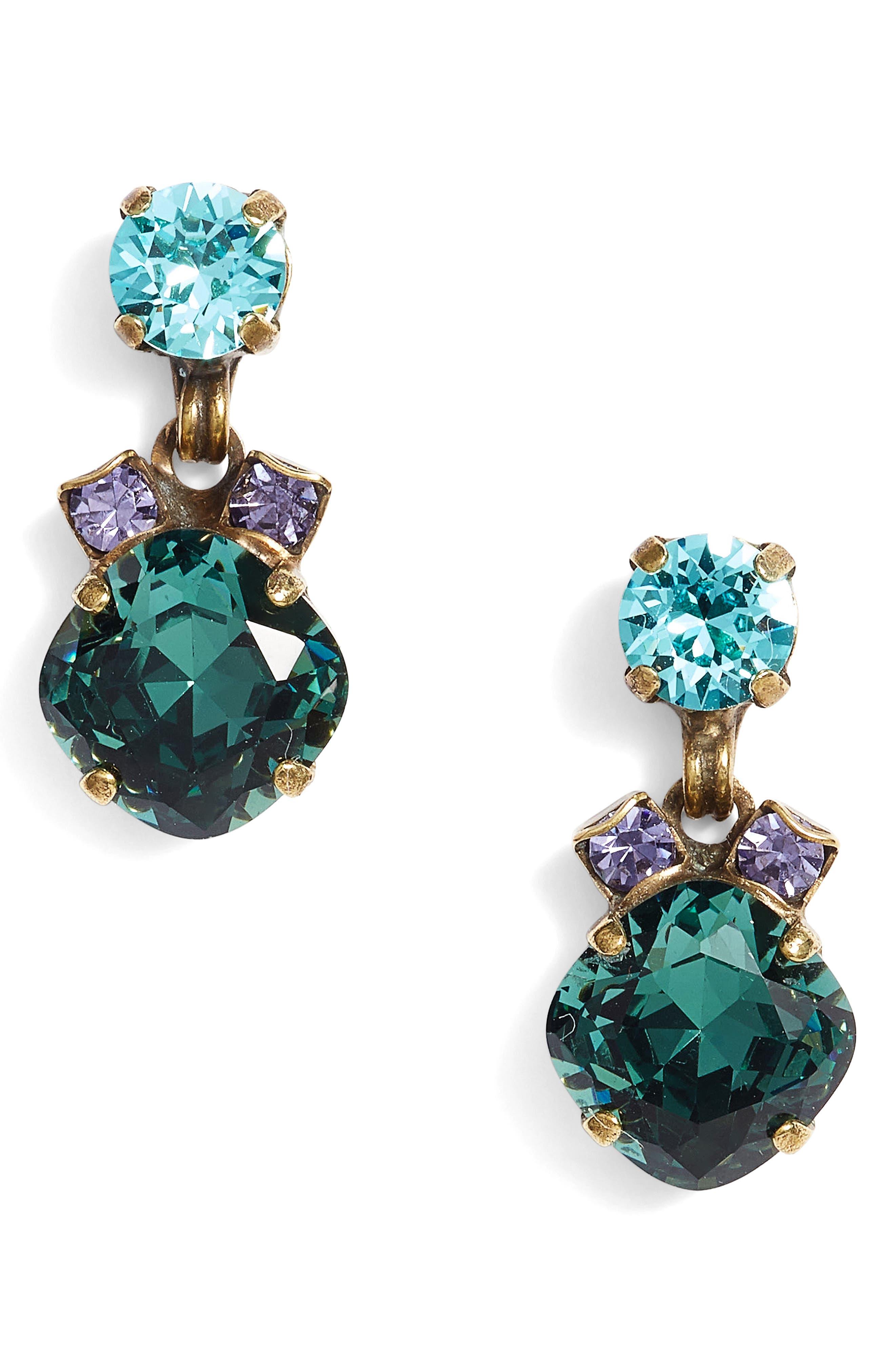 Balsam Crystal Drop Earrings,                         Main,                         color, Multi