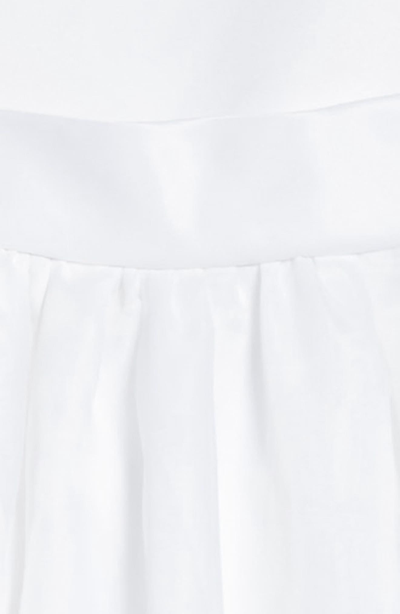 Beaded Cap Sleeve Dress,                             Alternate thumbnail 4, color,                             White