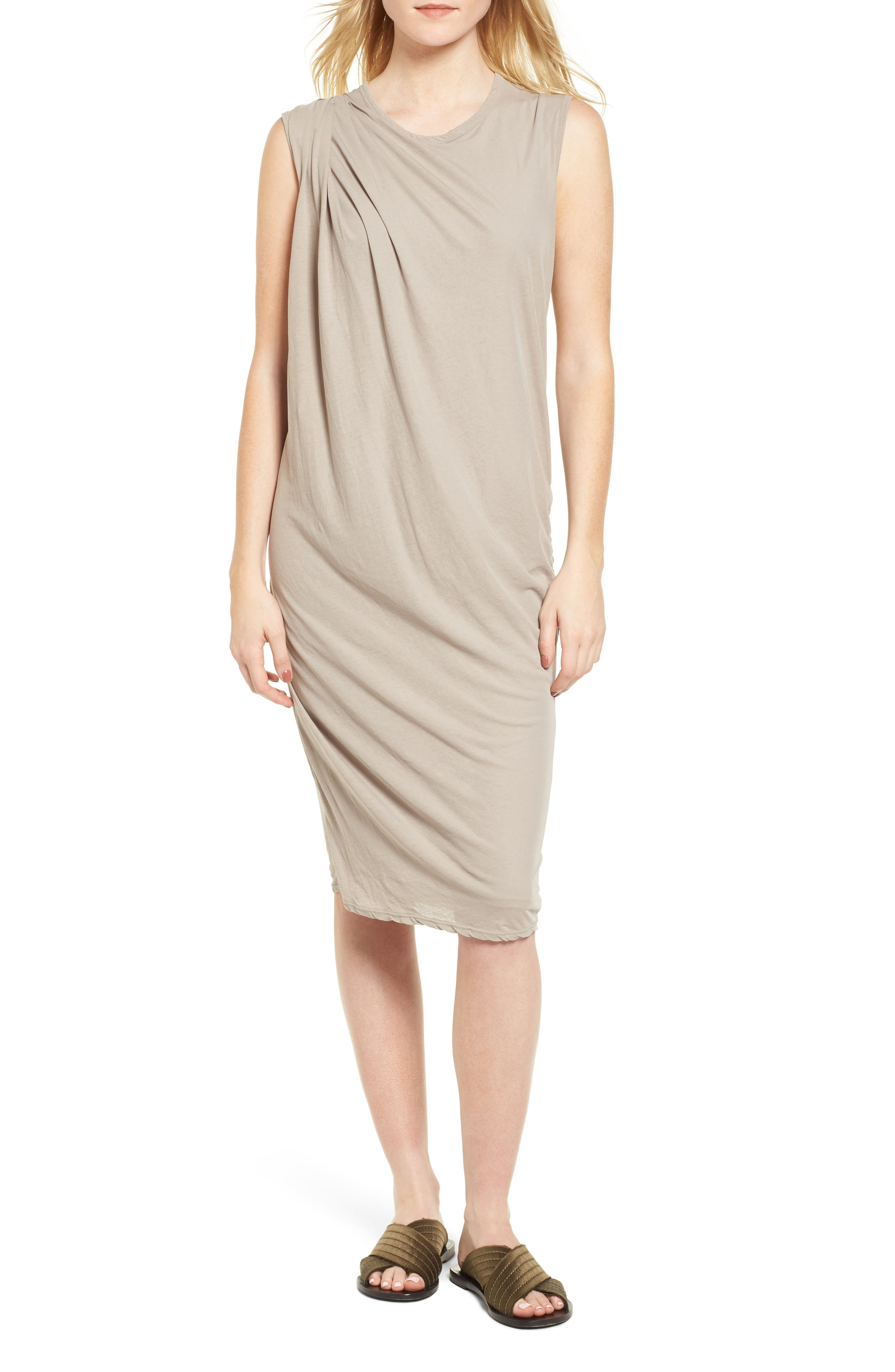 Draped Midi Dress,                         Main,                         color, Dapple