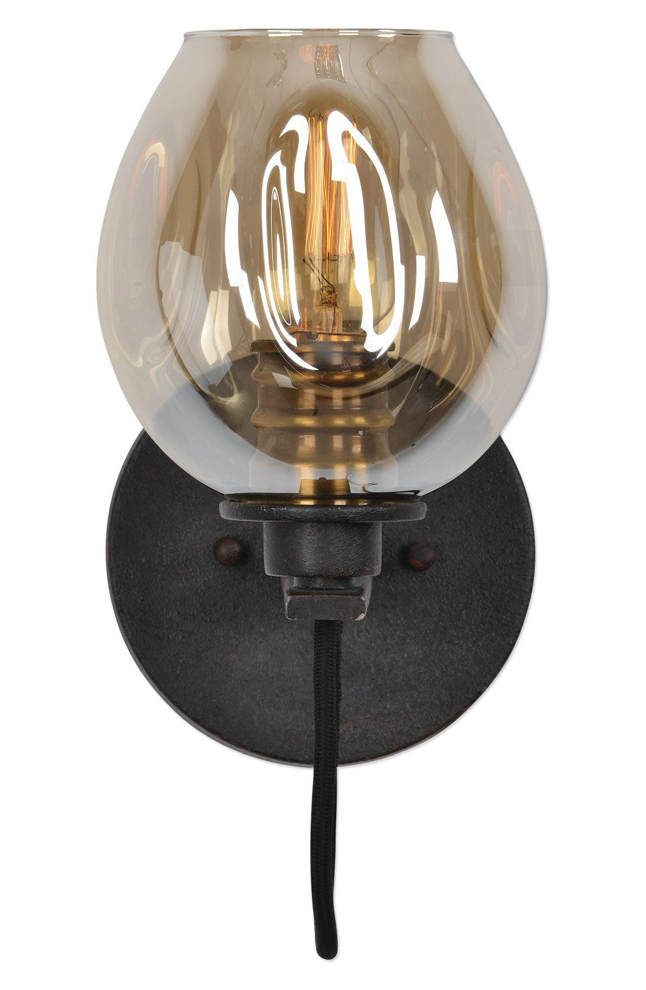 Fritz Wall Sconce,                         Main,                         color, Brown